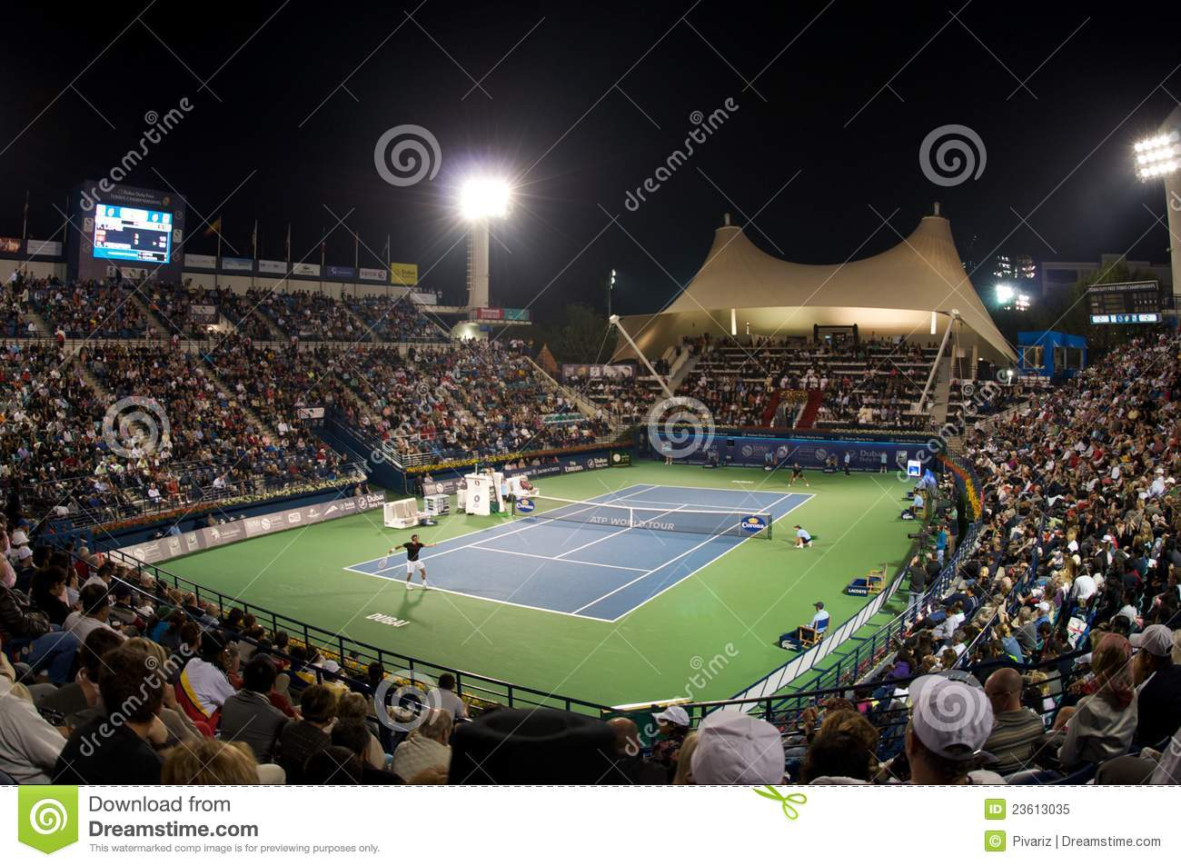 Dubai Tennis Tournament 2012 Editorial Image Image Of Tournament