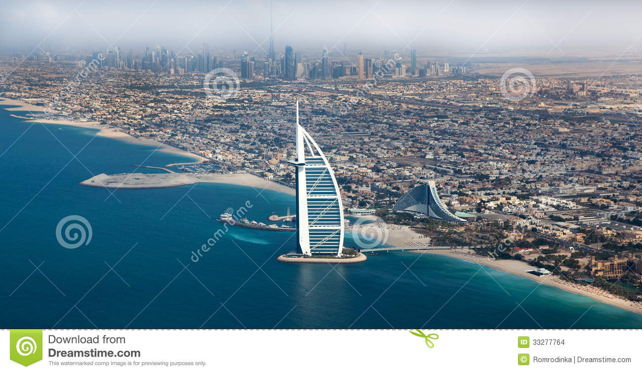 Dubai uae burj al arab from above editorial stock image for Videos dubai
