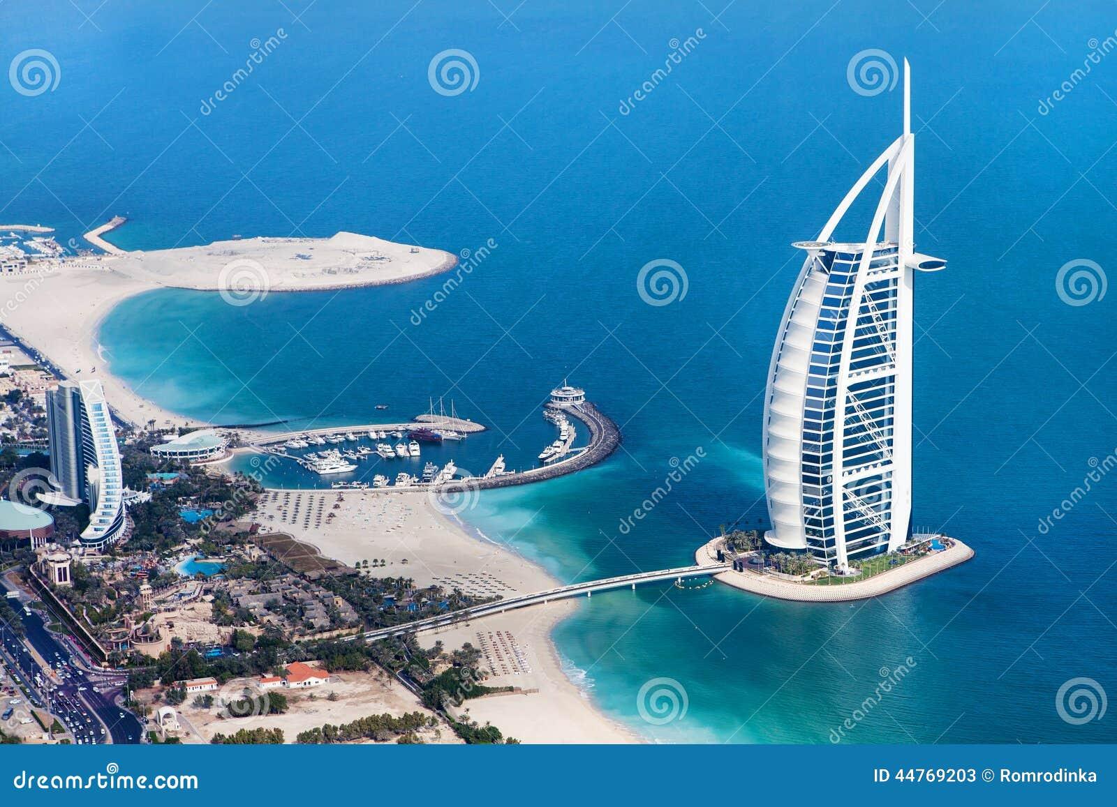 Dubai, UAE Burj Al-Araber von oben
