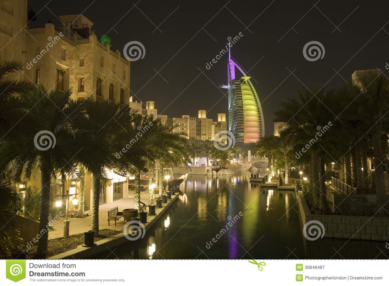 Burj al arab dubai stock image 28079863 for Dearest hotel in dubai