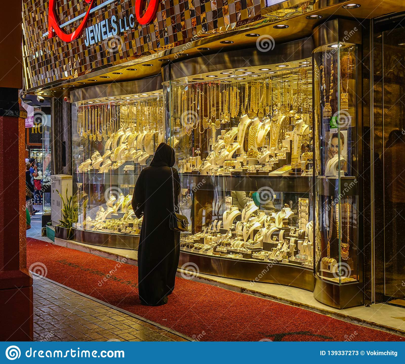 People Visit The Gold Souk In Dubai Editorial Stock Photo - Image of