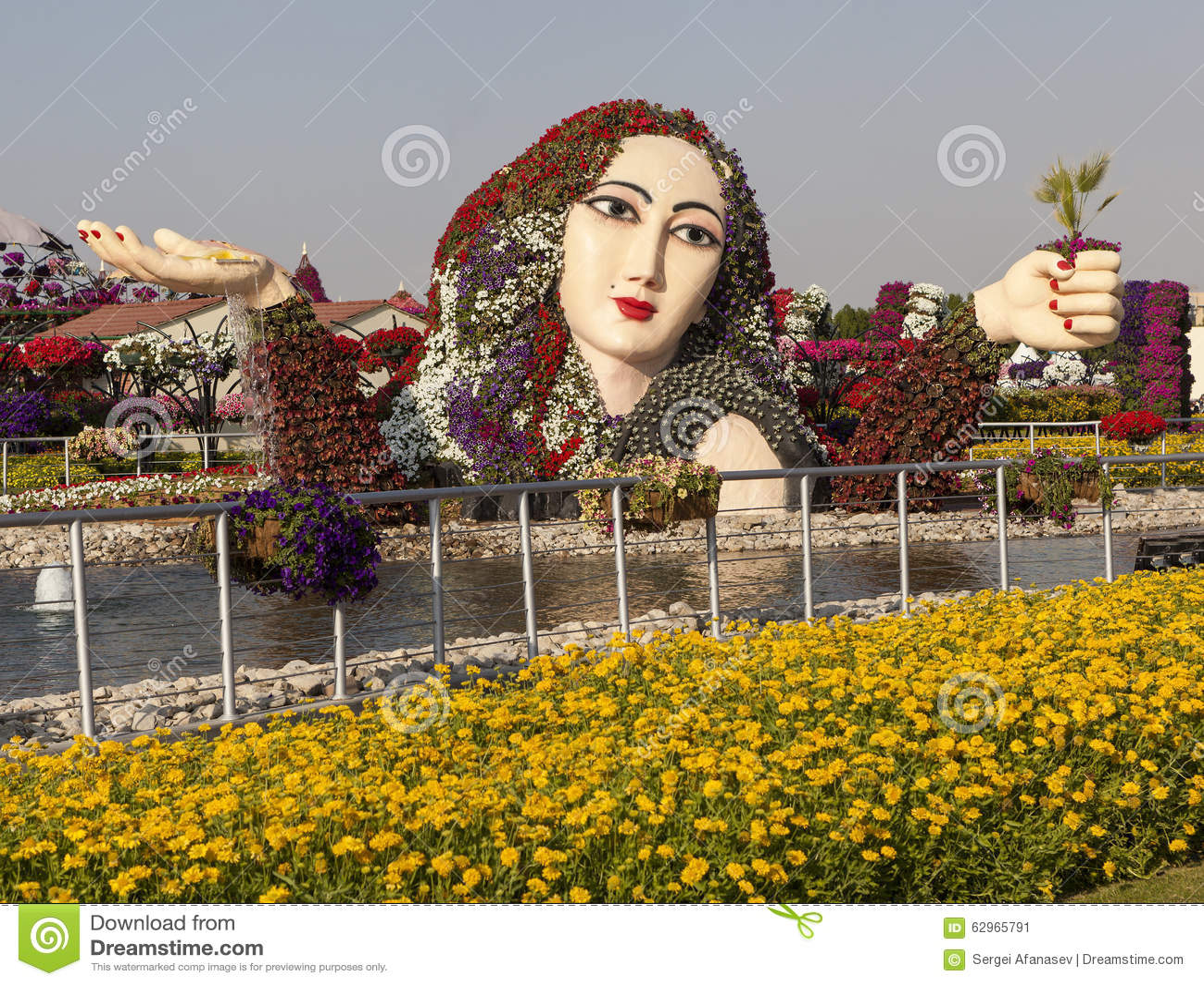 dubai uae december 23 2014 photo of flower park dubai miracle