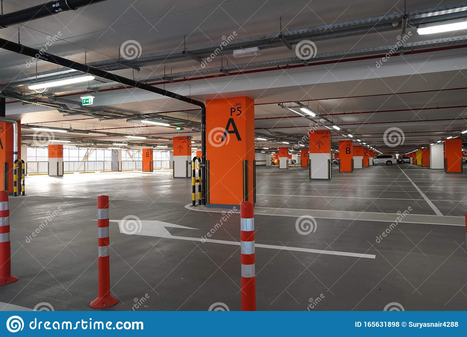Dubai Uae December 2019 Underground Parking Which Is Almost Empty Empty Garage In Basement Of Office Building Reinforced Editorial Stock Photo Image Of Economy Empty 165631898