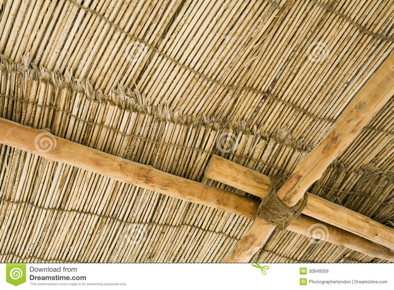 Dubai uae detail of a wood thatch roof at the heritage for What type of wood is used for roofs