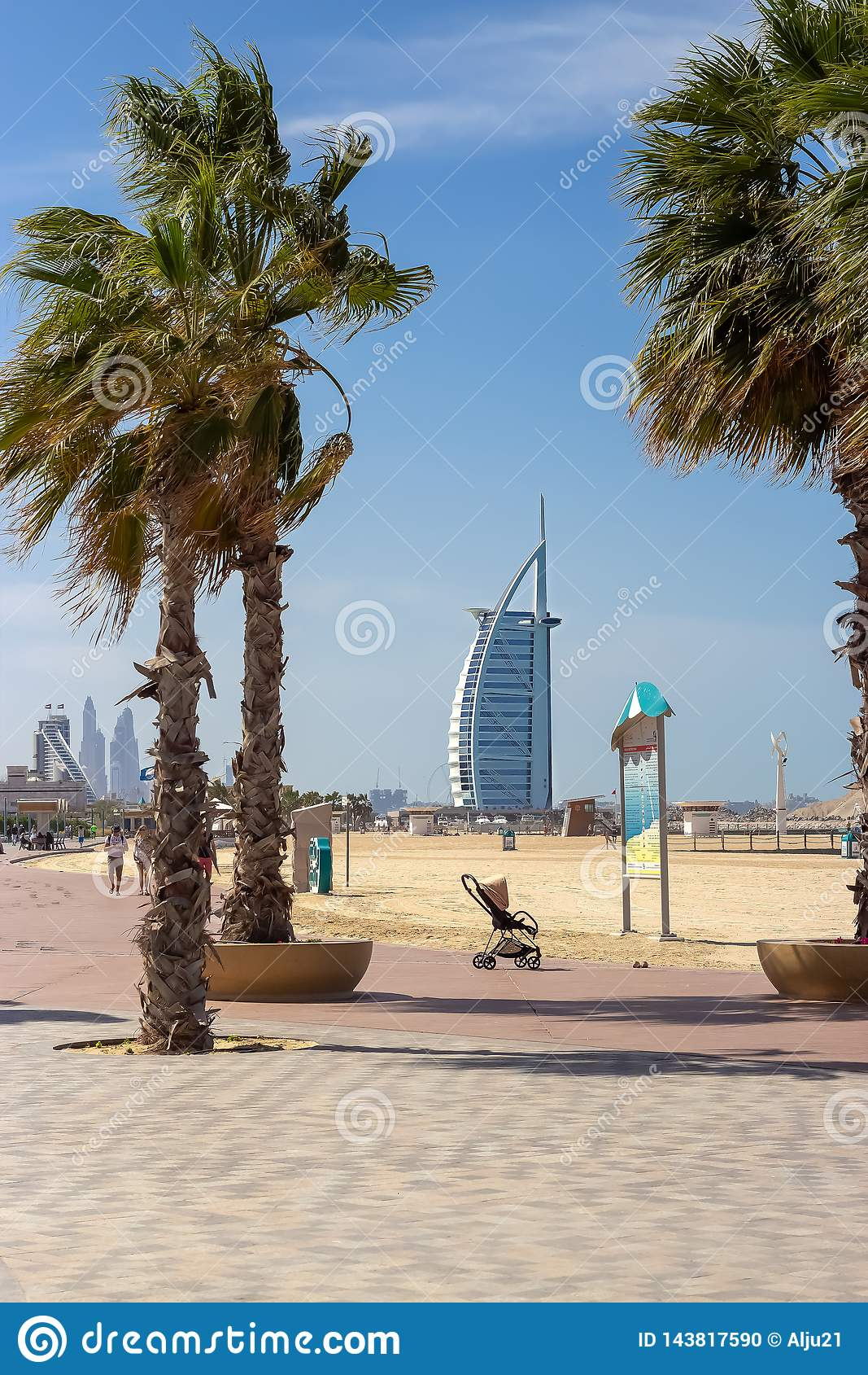 DUBAI, UAE - February, 2019: View Of The Open Jumeirah ...
