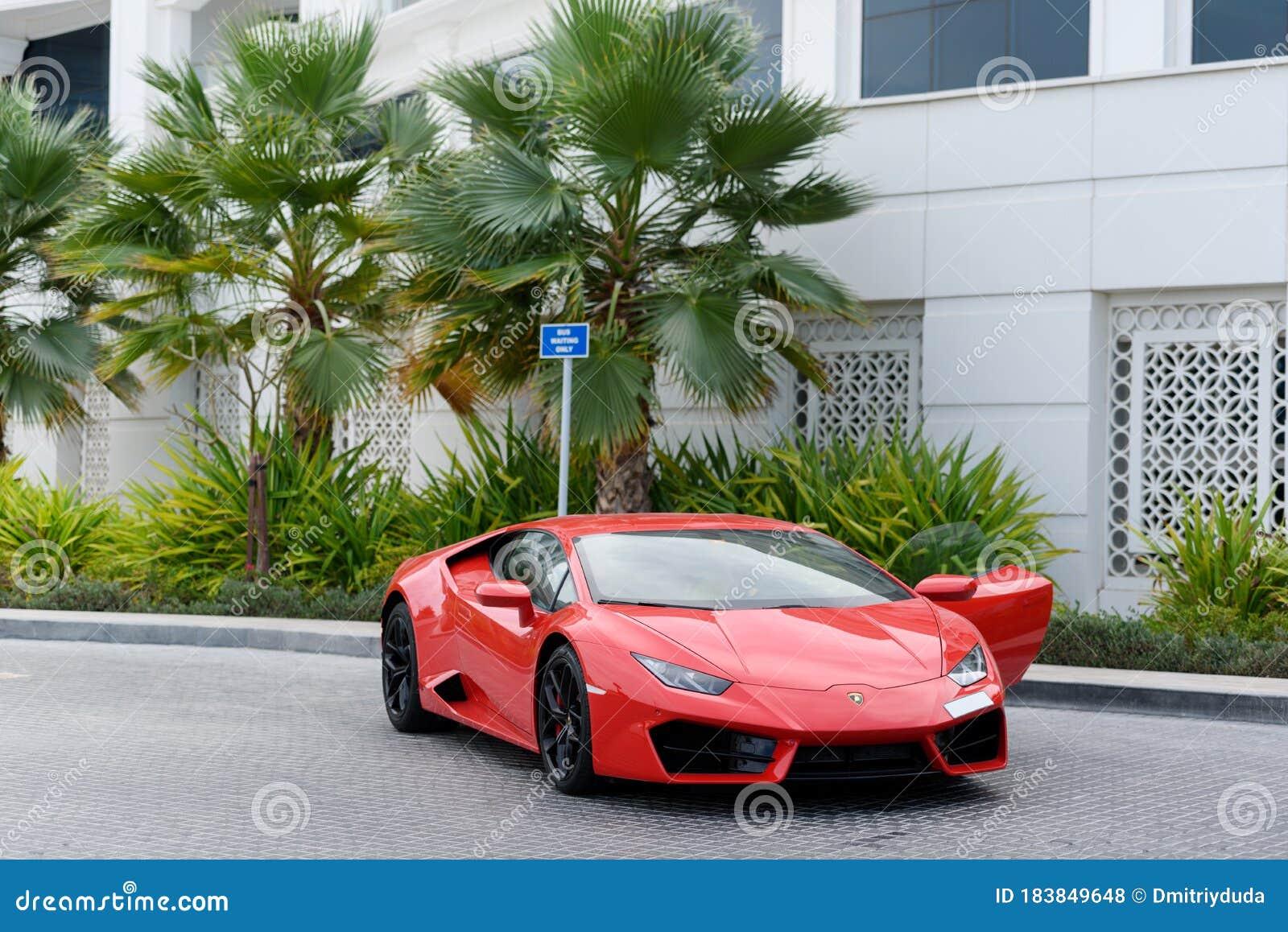 Dubai Uae January 13 2017 Red Luxury Supercar Lamborghini Aventador Roadster Car On The Road In Dubai Editorial Stock Photo Image Of Sport Aventador 183849648