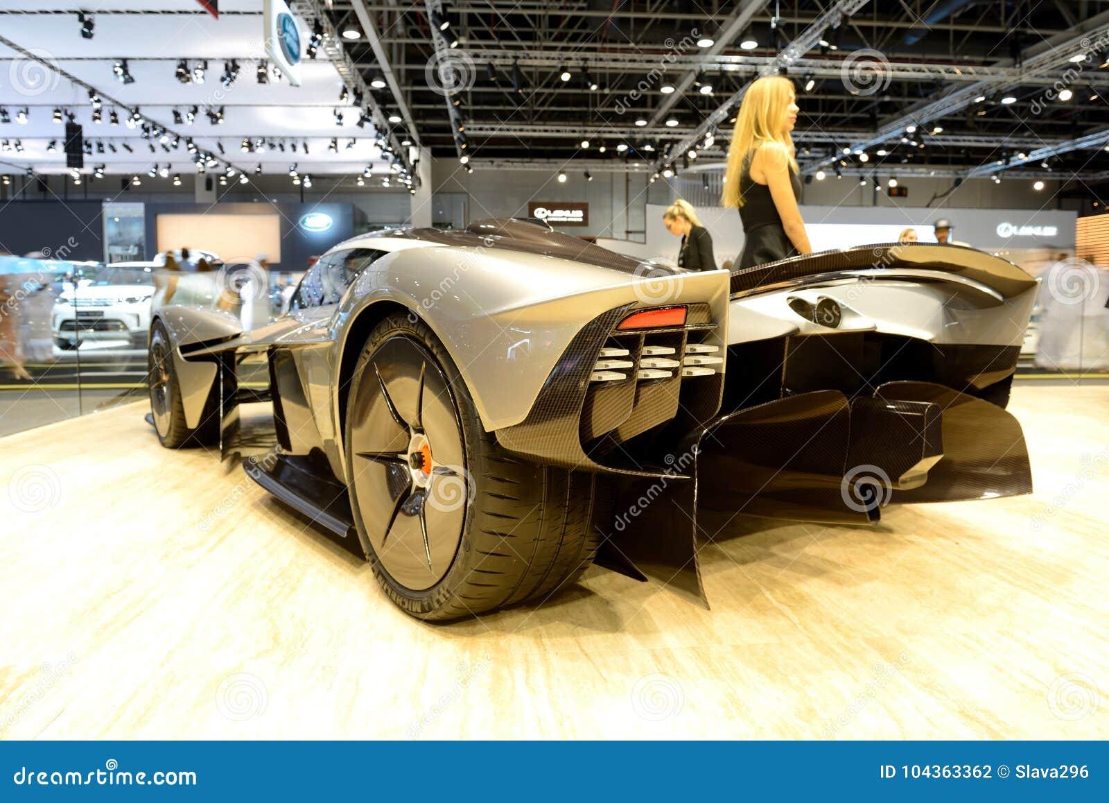The Aston Martin Valkyrie Hybrid Electric Sports Car Is On Dubai