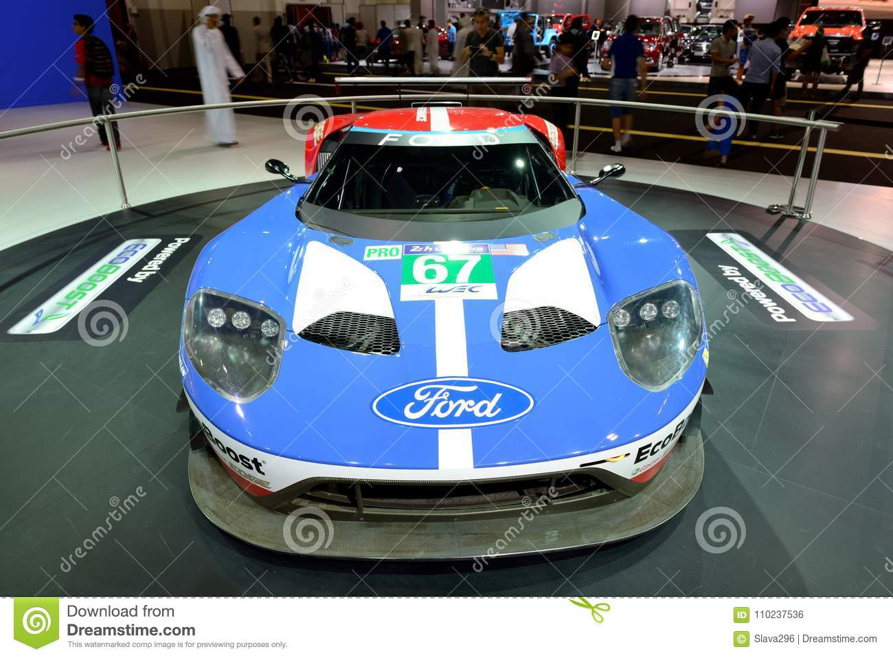 Download The Ford Gt Race Car Is On Dubai Motor Show  Editorial Photo Image
