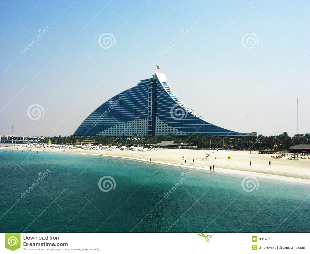 Jumeirah beach hotel in dubai editorial image image for Sail shaped hotel dubai