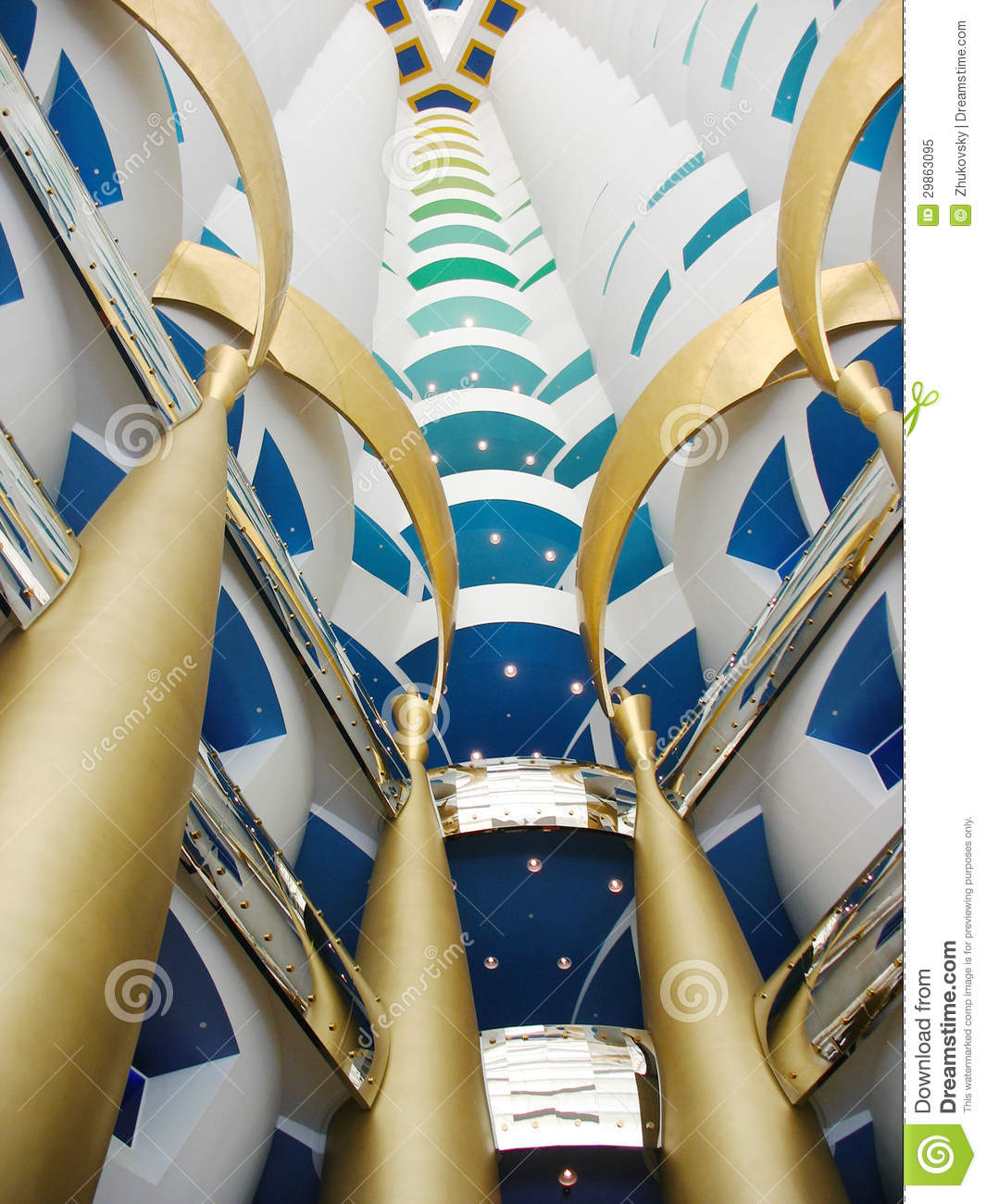 The world 39 s tallest atrium in burj al arab hotel in dubai for Hotel de dubai