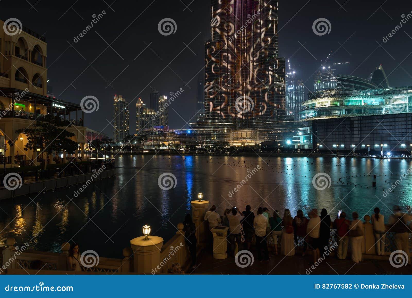 dubai united arab emirates de diciembre de vista a la torre