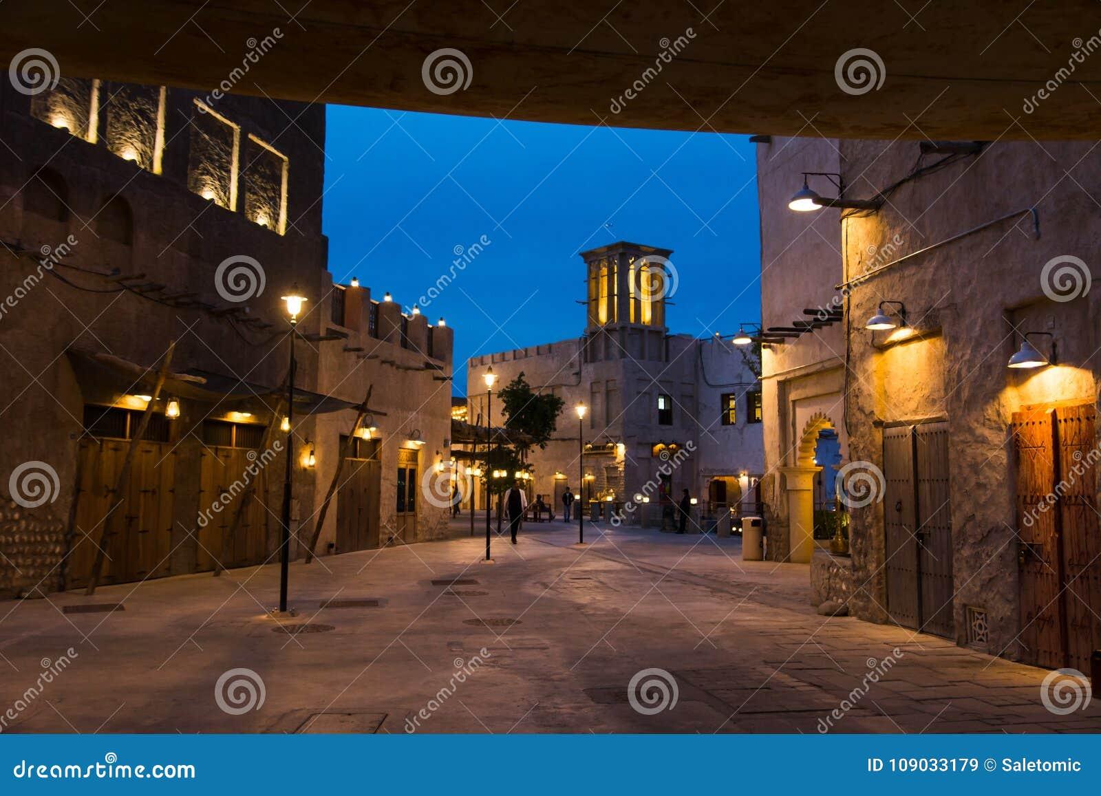 DUBAI, UNITED ARAB EMIRATES - 30 DE ENERO DE 2018: Al Fahidi Histor