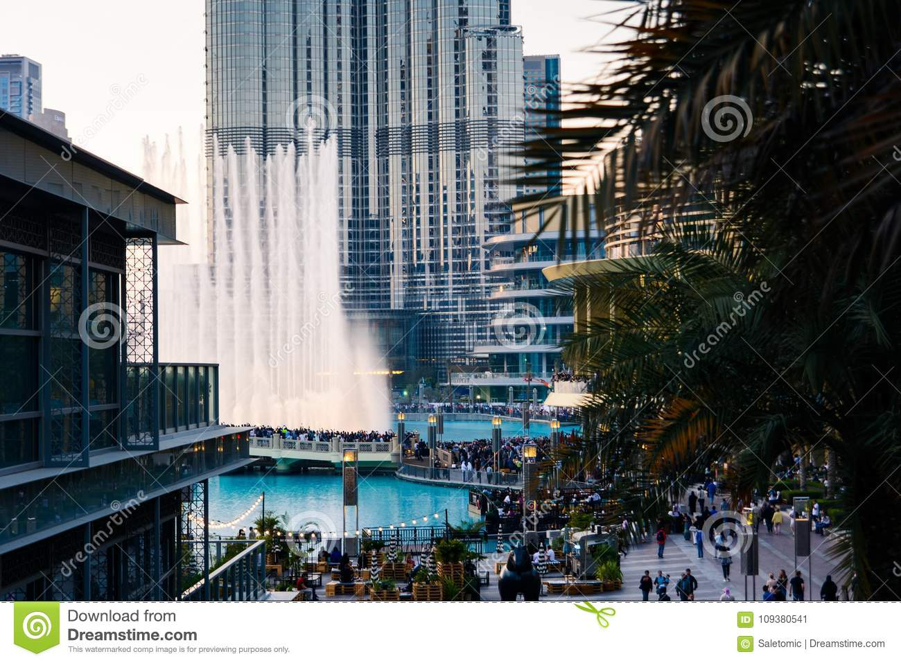 Modern buildings at dubai creek editorial photography image of.