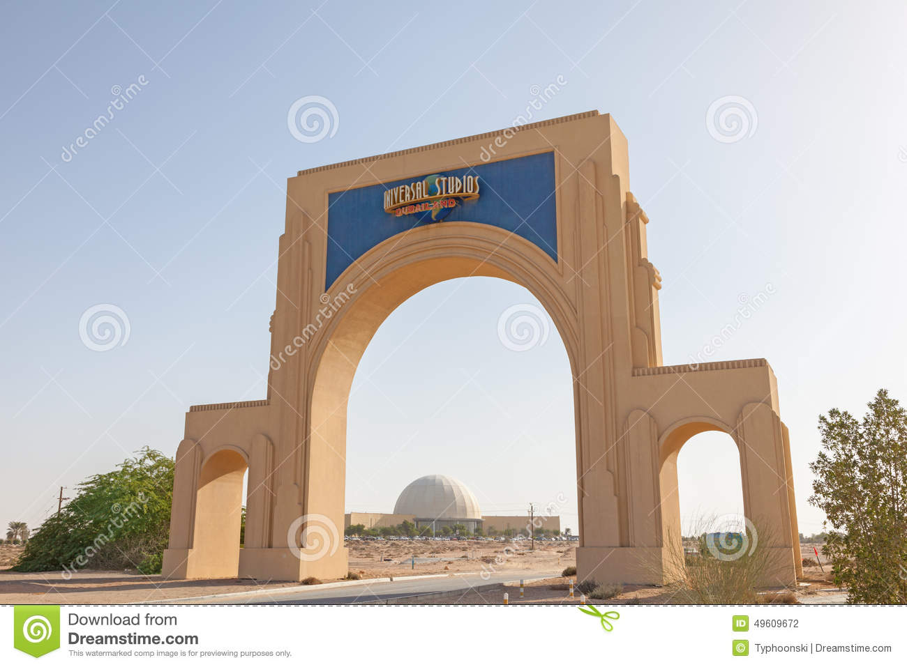 Dubailand Universal Studios Editorial Photography Image
