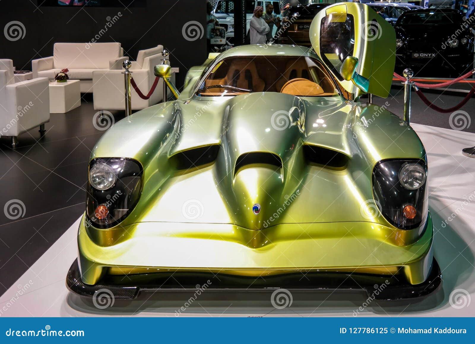 Dubaj Motorowy przedstawienie, Rzadki hiper- samochód wystawiający