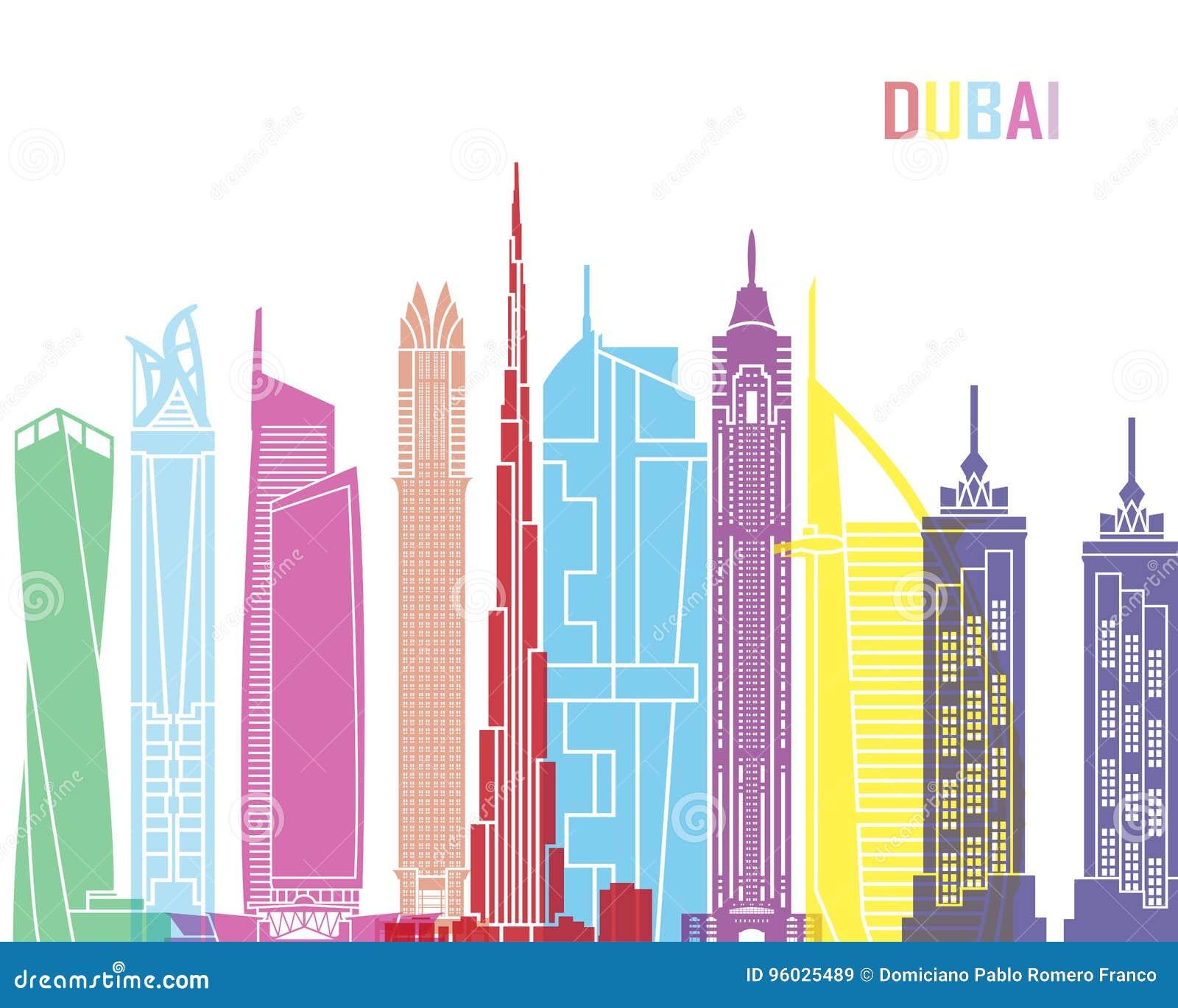 Dubaj V2 linii horyzontu wystrzał