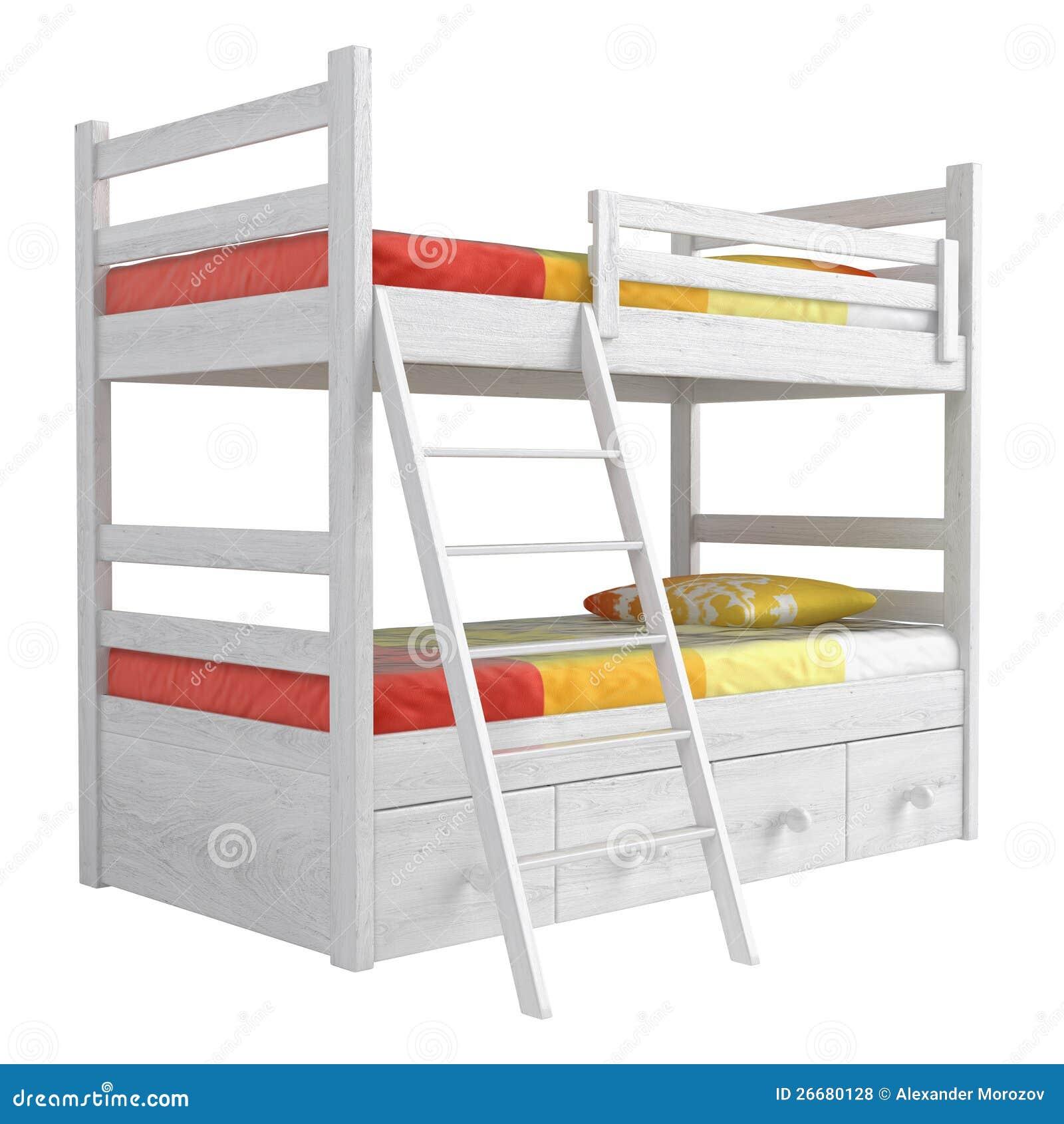 Stapelbed Met Dubbel Bed.Dubbel Stapelbed Stock Illustratie Illustratie Bestaande Uit Land