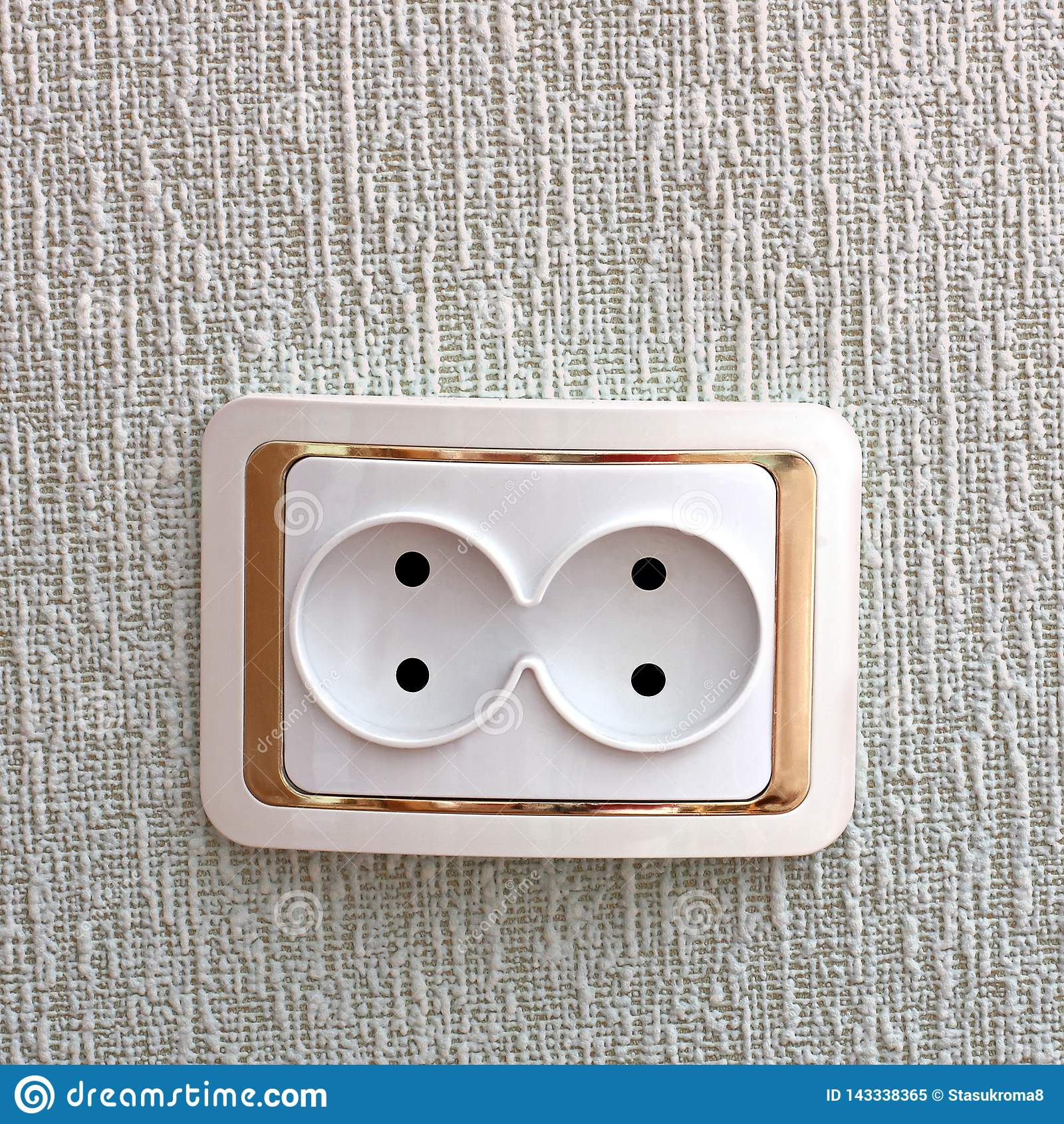 Dubbelt uttag Hålighet i väggen