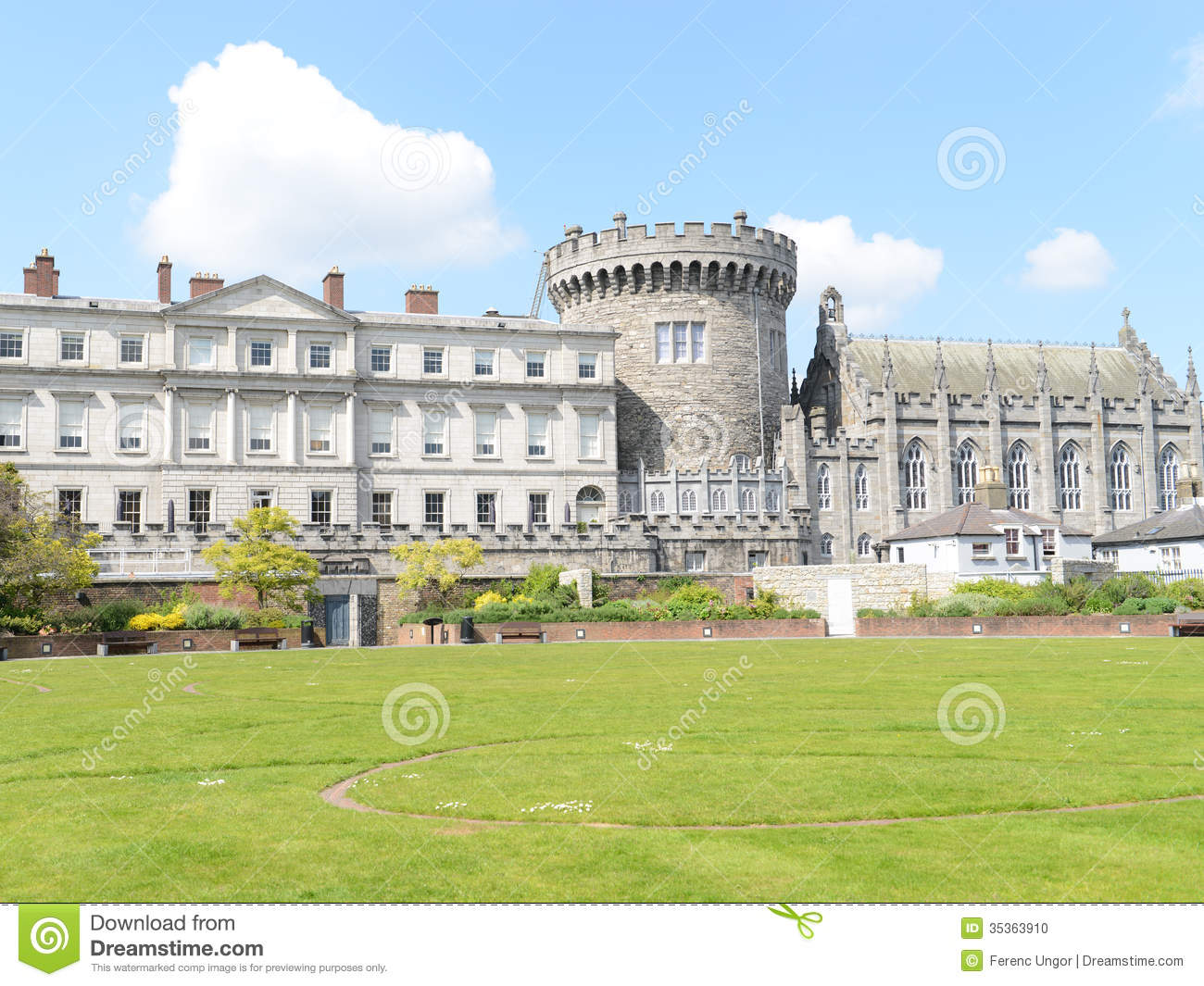 Dublin Castle Stock Photo Image Of Outdoor Famous