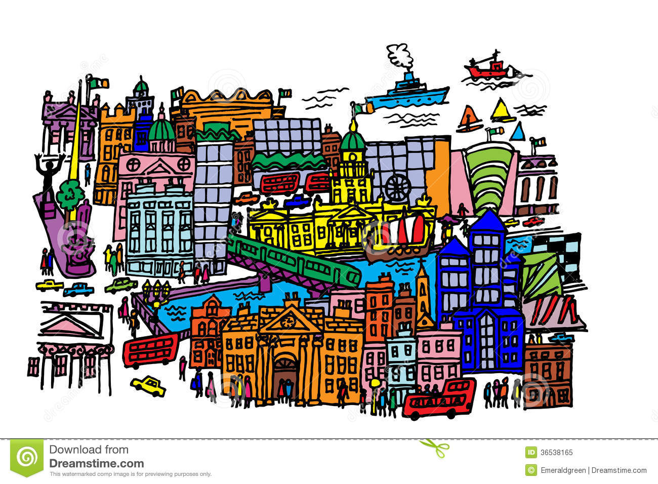 city centre clipart - photo #3