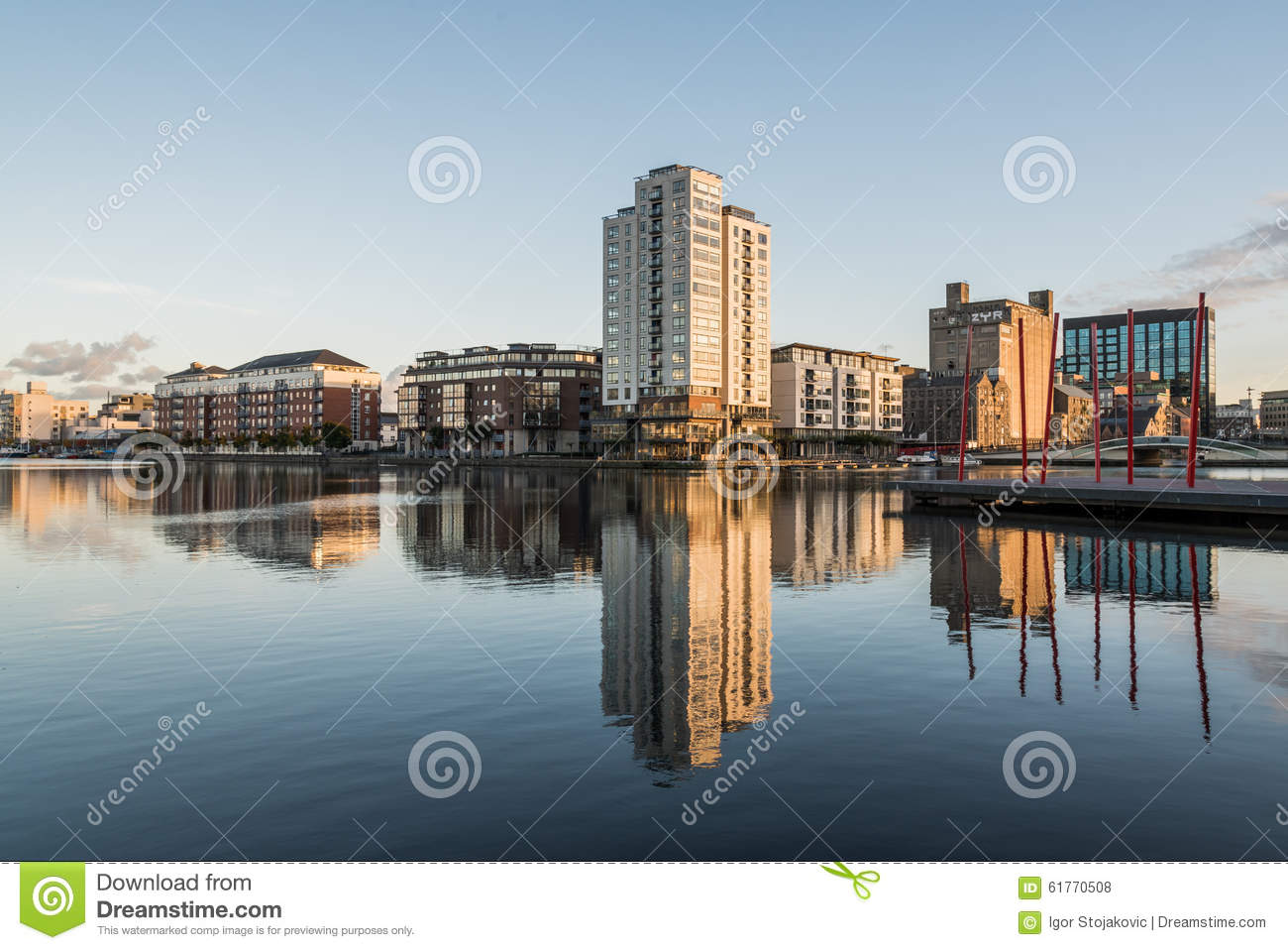 Dublin Docklands stock photo. Image of city, apartments ...