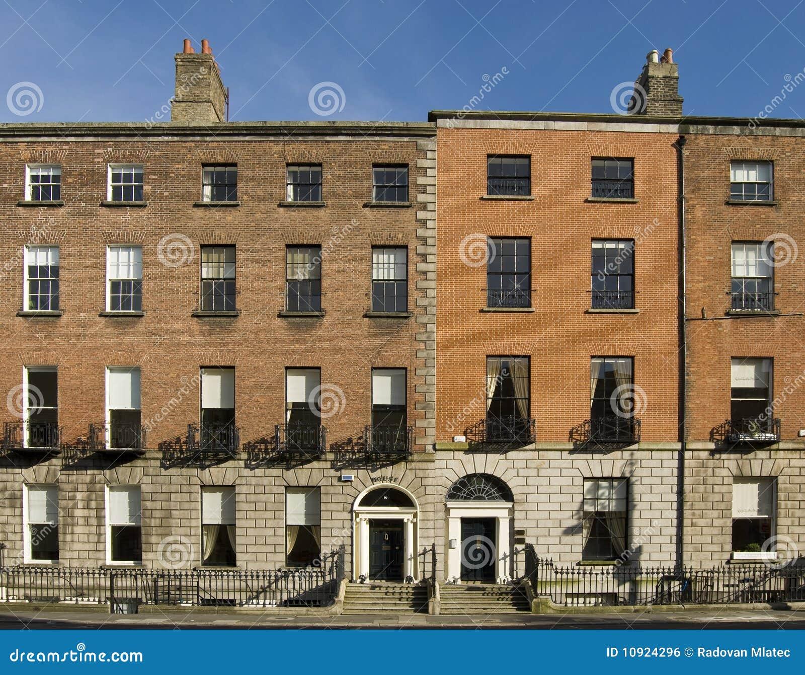 Small Spaces Architects Dublin Ireland Houses: Dublin Georgian Houses Royalty Free Stock Image