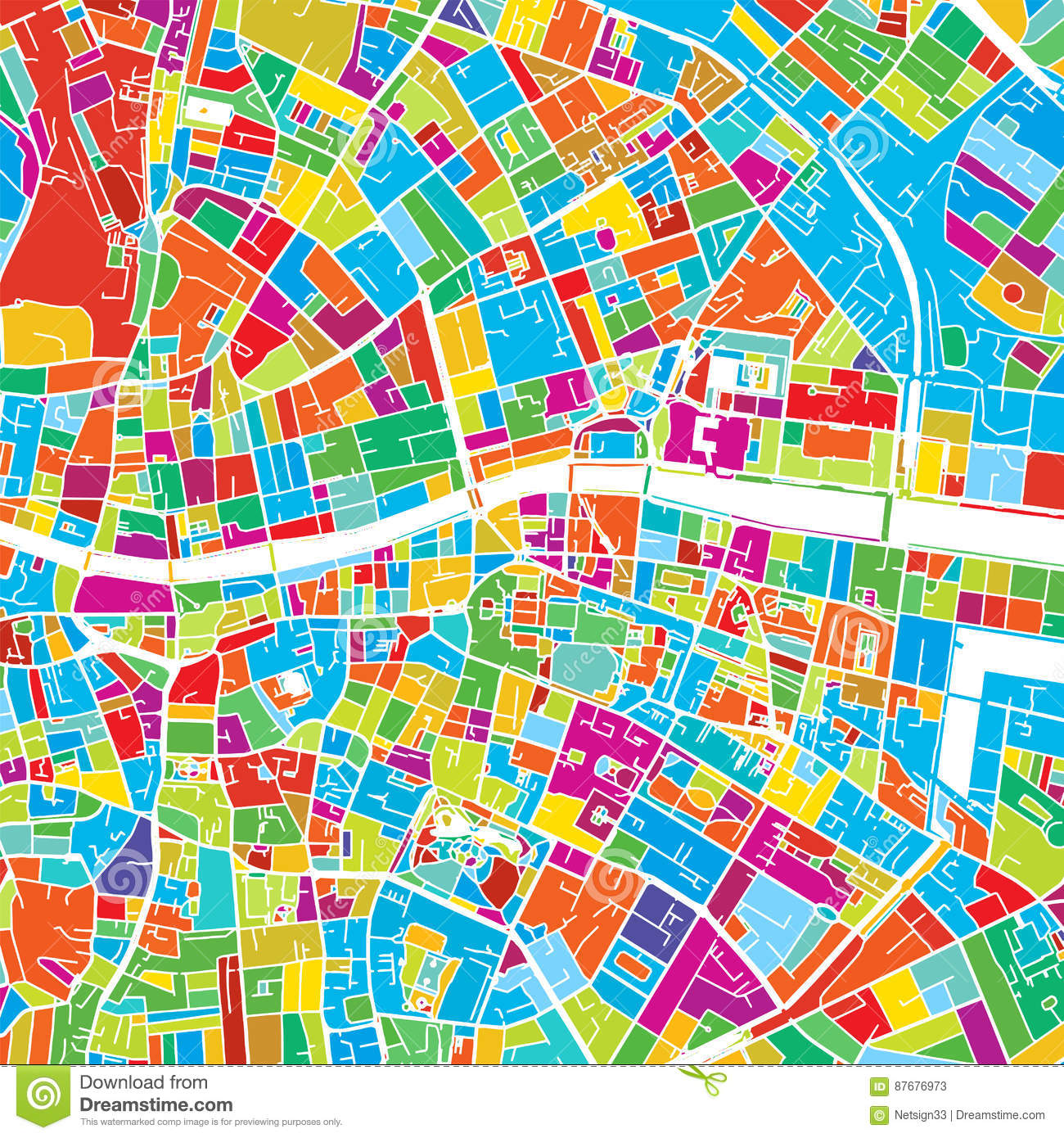 photo relating to Printable Maps of Ireland titled Dublin, Eire, Vibrant Vector Map Inventory Vector