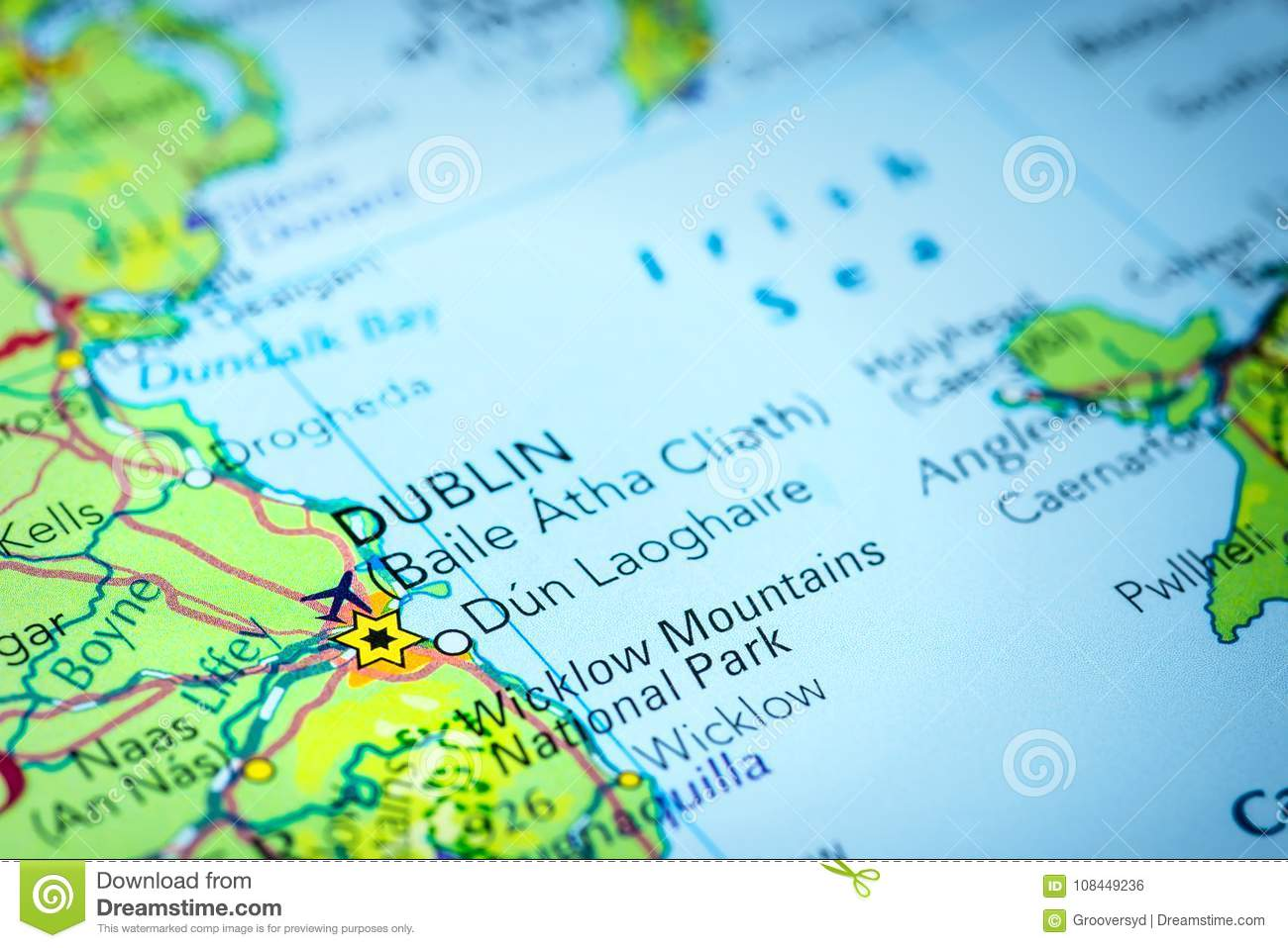 Dublin In Ireland On A Map Stock Photo Image Of Capital 108449236