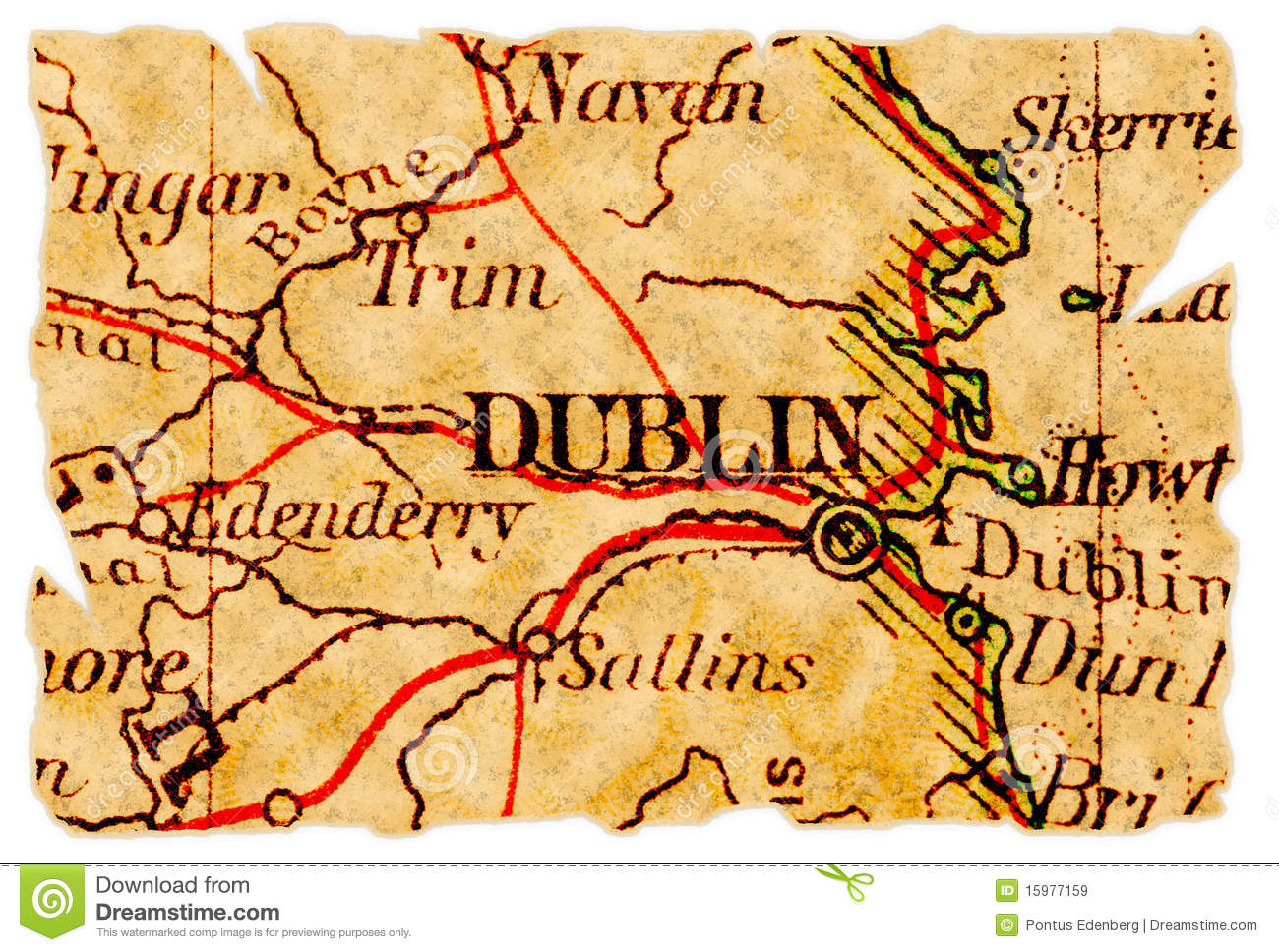 Dublin Old Map Stock Image Image Of Background Paper - Old maps of dublin