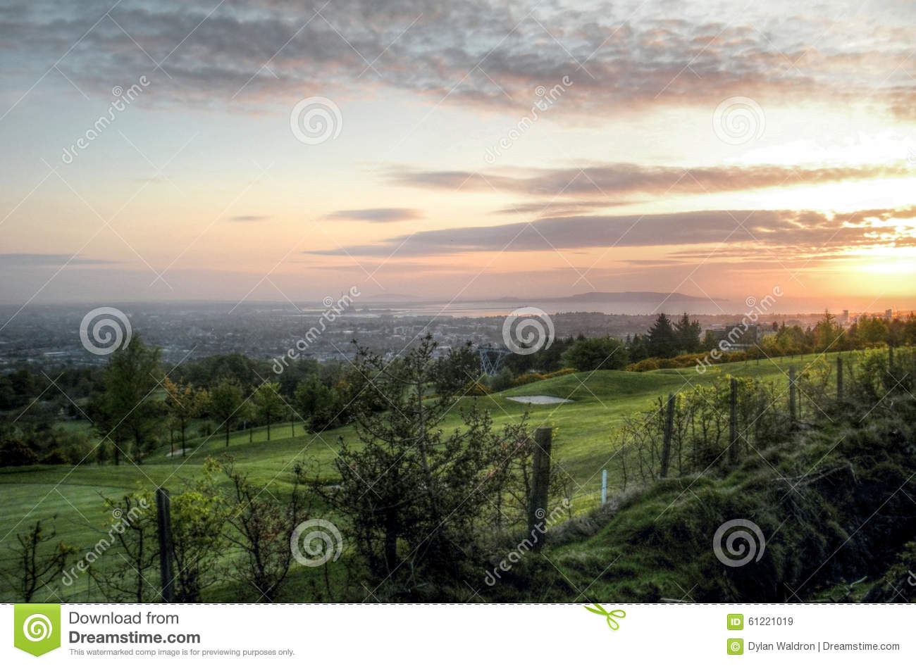 dublin sunrise stock image image of coast irish sunrise 61221019