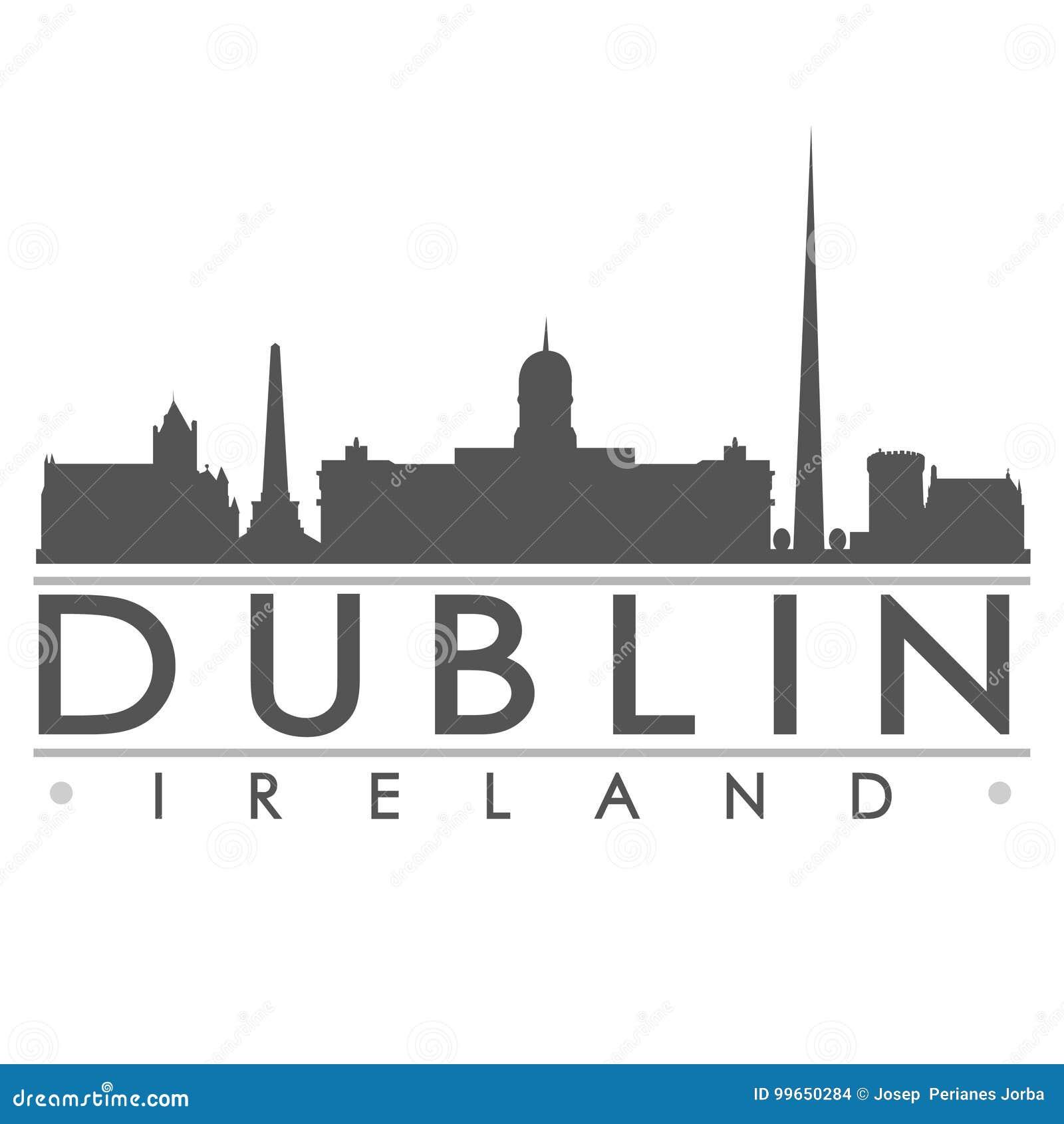 Dublin Sydney Silhouette Design City Vector-Art.