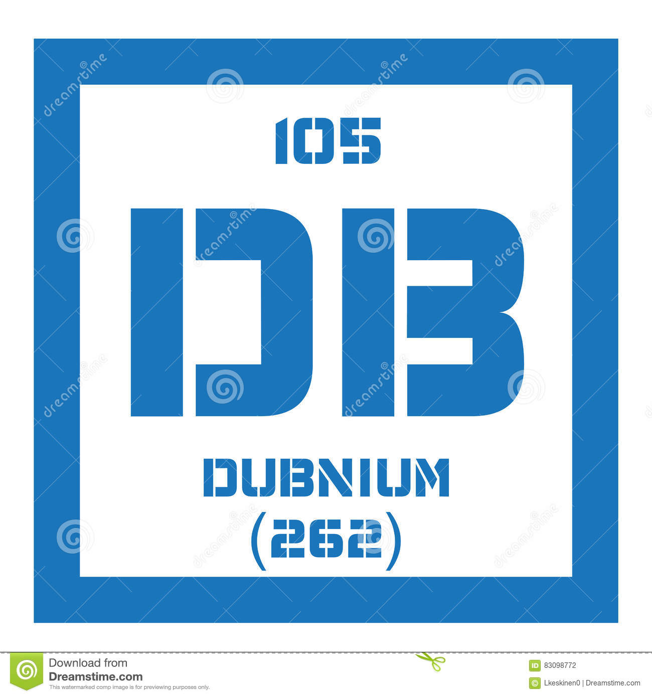 Dubnium chemical element stock vector illustration of element dubnium chemical element radioactive synthetic element colored icon with atomic number and atomic weight chemical element of periodic table urtaz Images