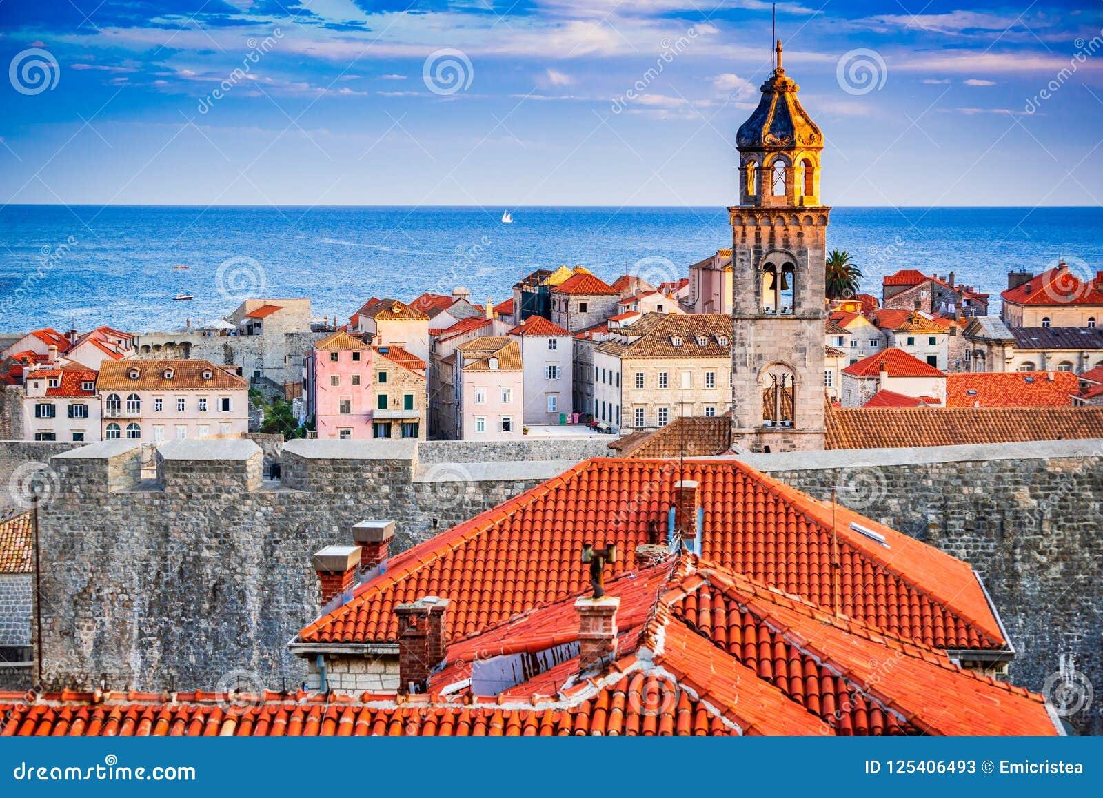 Dubrovnik Chorwacja, Dalmatia, - wybrzeże,