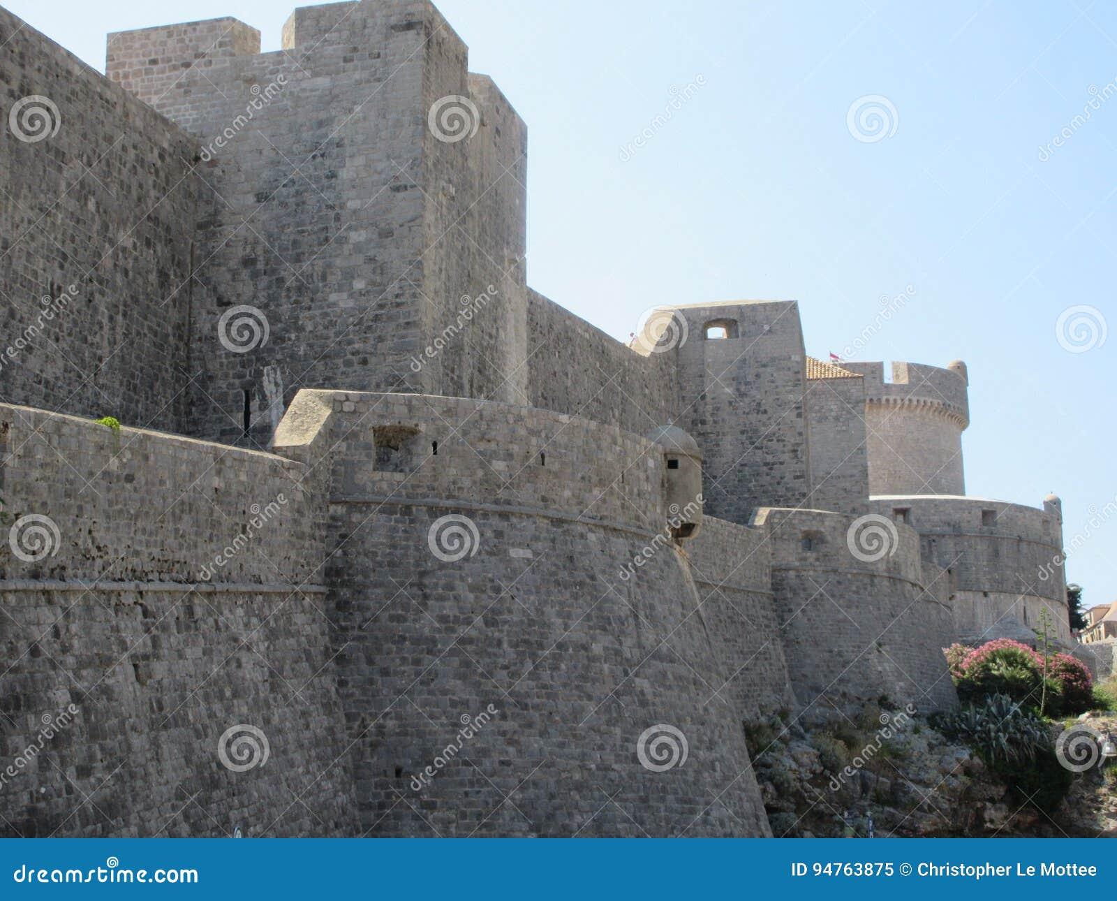 Dubrovnik miasta ściany