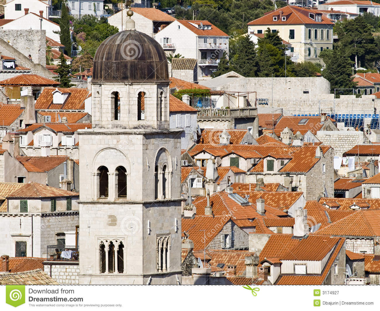Dubrovnik old town royalty free stock photography image - The house in the old franciscan tower ...