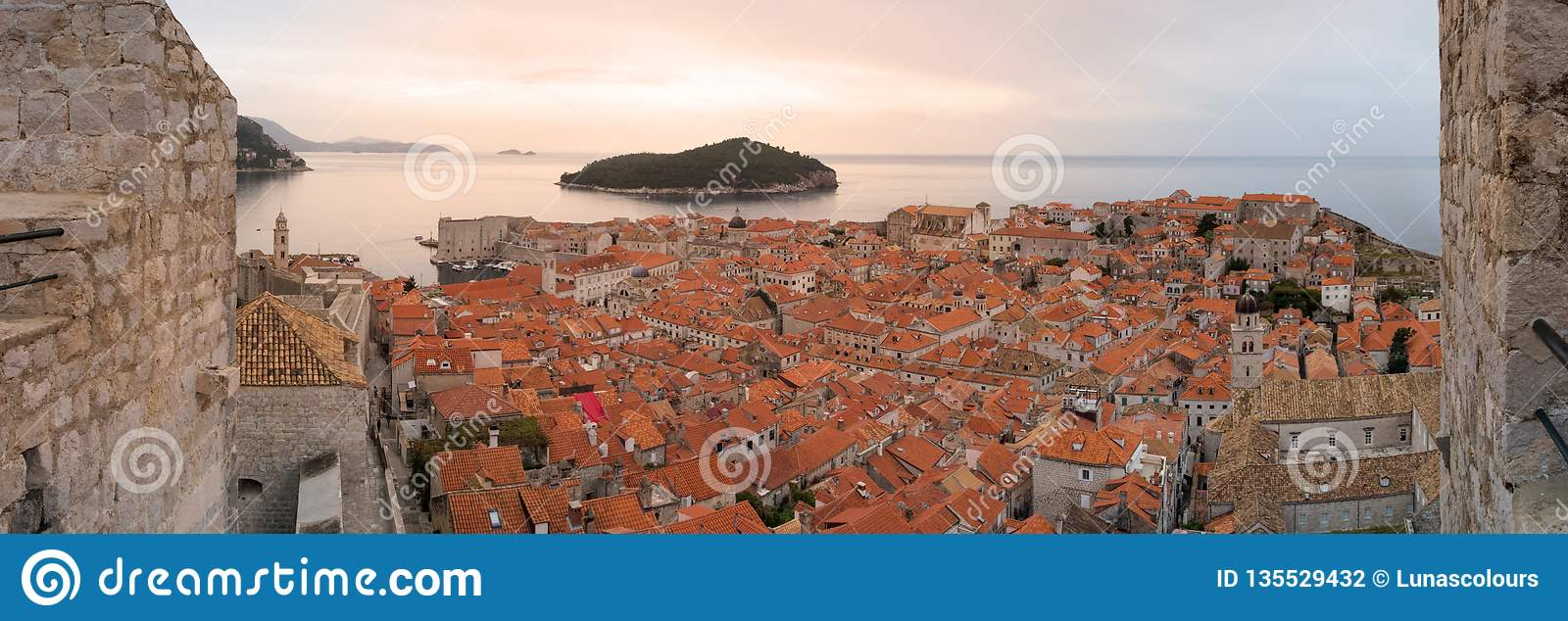 Dubrovnik Old Town from City Walls
