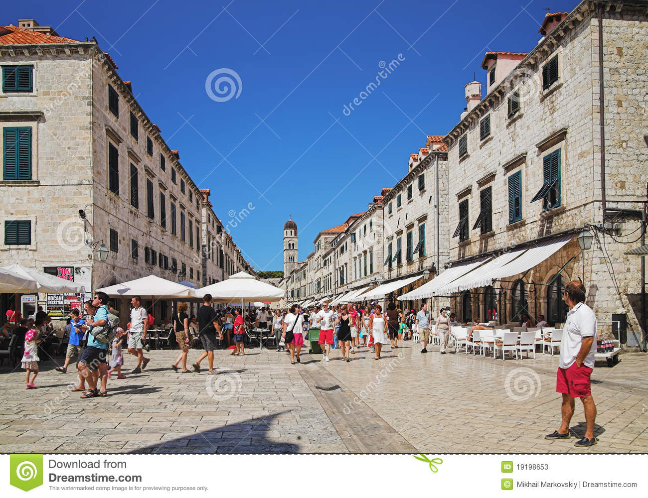Dubrovnik Old Town Croatia Editorial Stock Photo Image