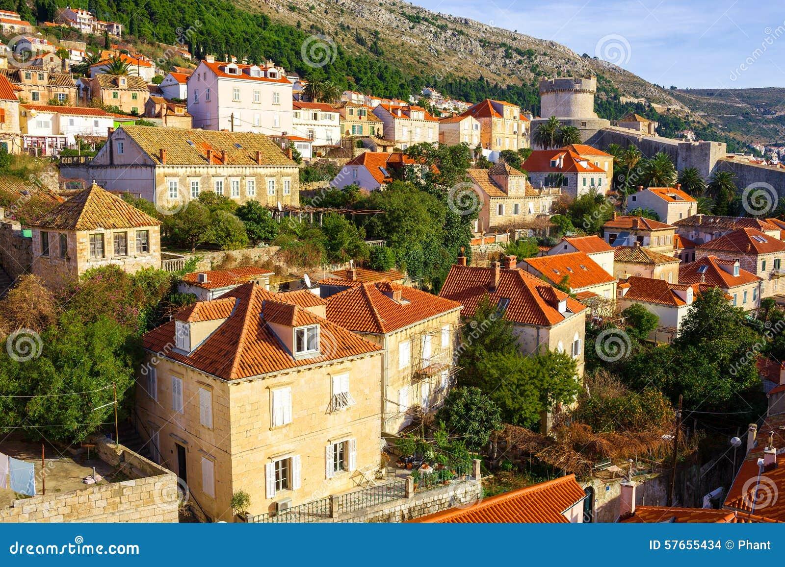 Dubrovnik powietrzny widok Chorwacja