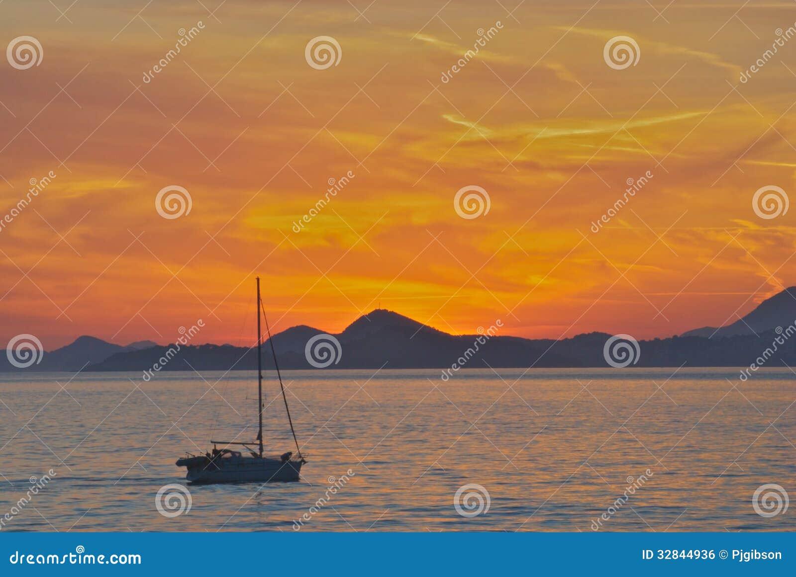 Dubrovnik-Sonnenuntergang