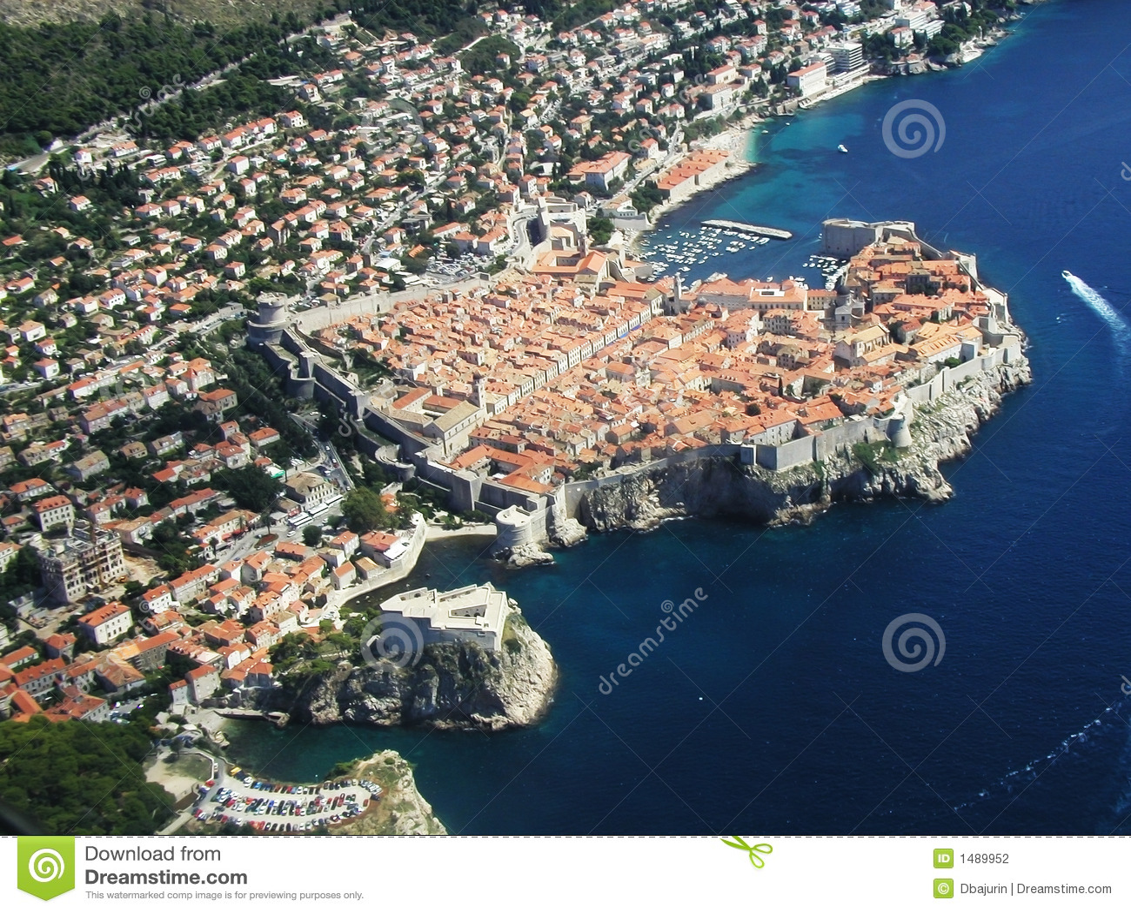 Dubrovnik starego miasta.