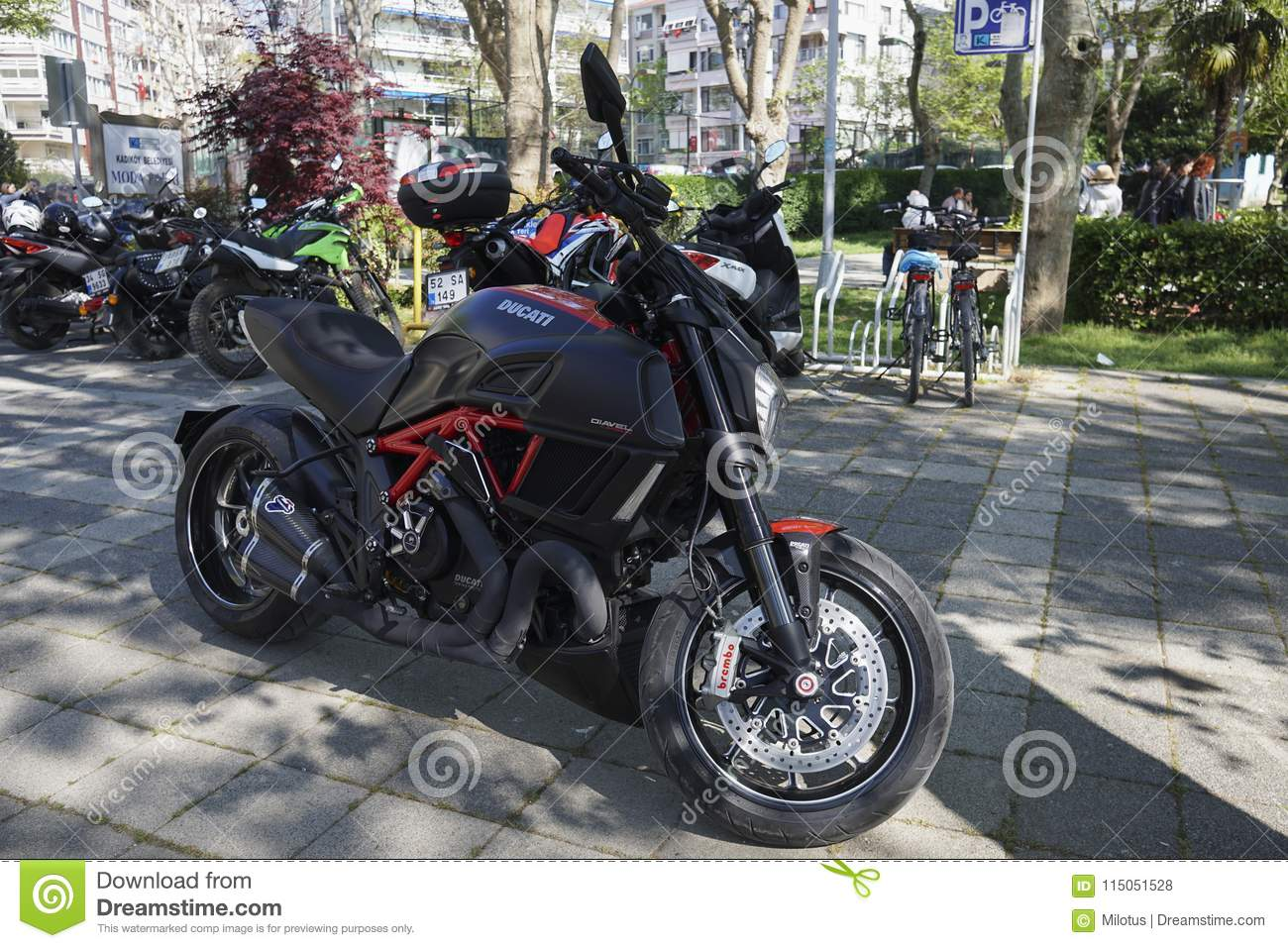 Ducati Diavel Carbon At Istanbul Kadikoy Editorial Stock Photo