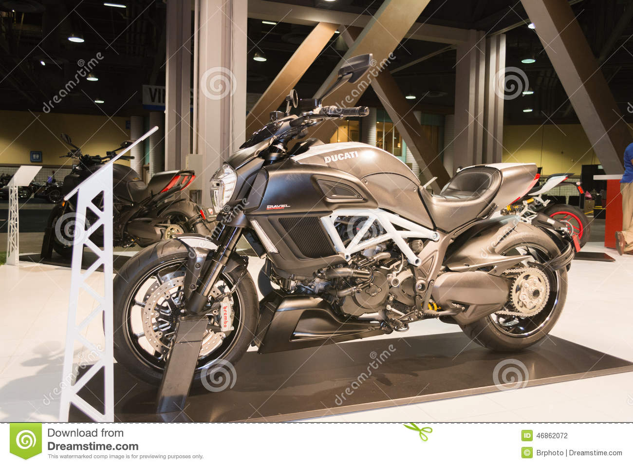ducati diavel titanium 2015 motorcycle editorial photography
