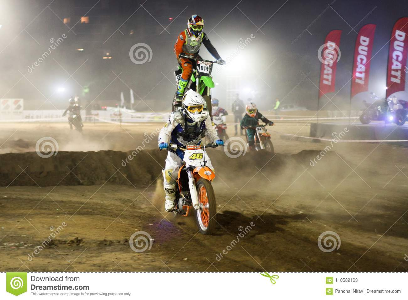 The Jump Dirt Bike Racer India  Editorial Stock Photo - Image of