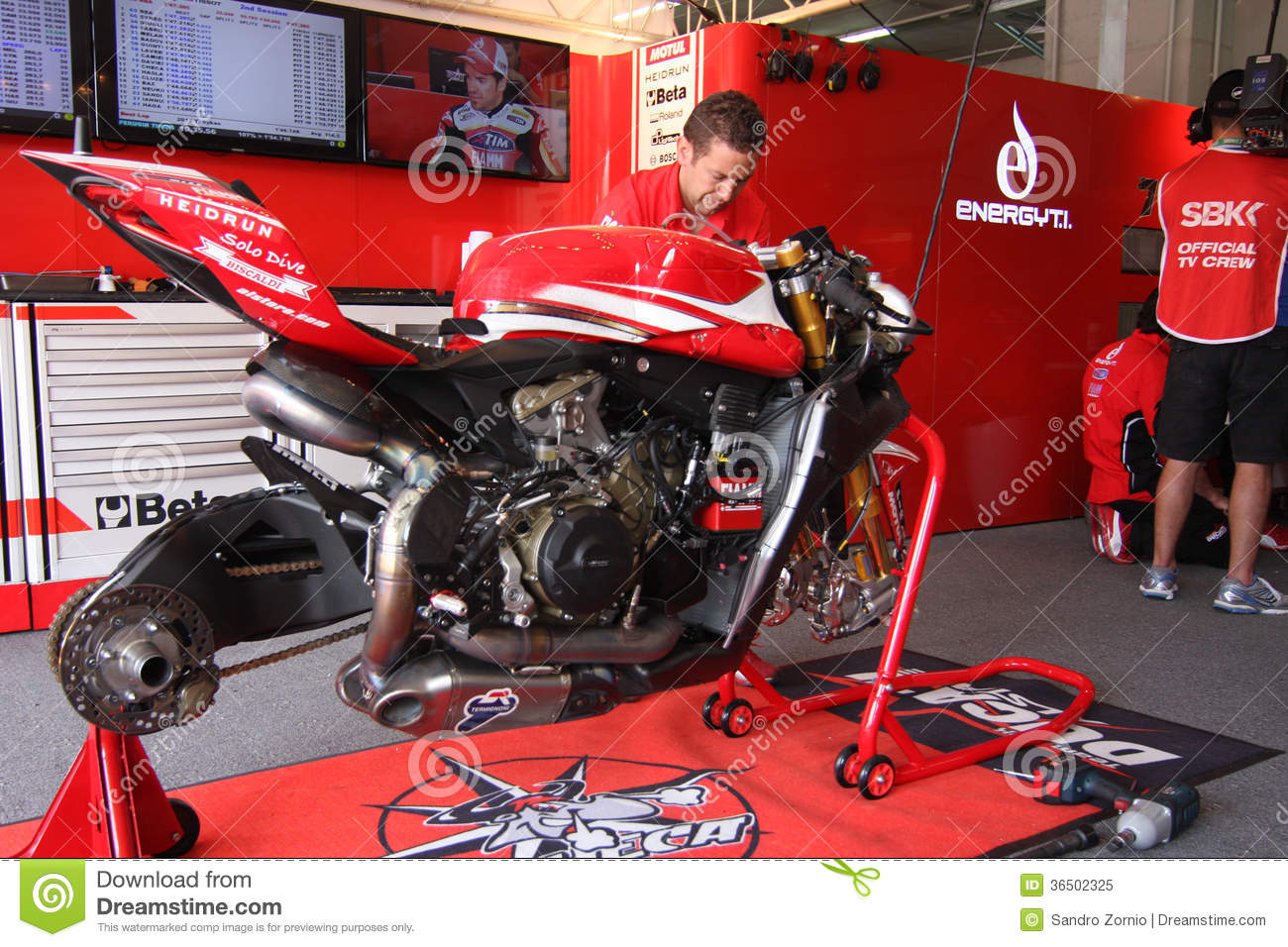 Ducati Panigale Official Racing Team WSBK Editorial Image - Image: 36502325