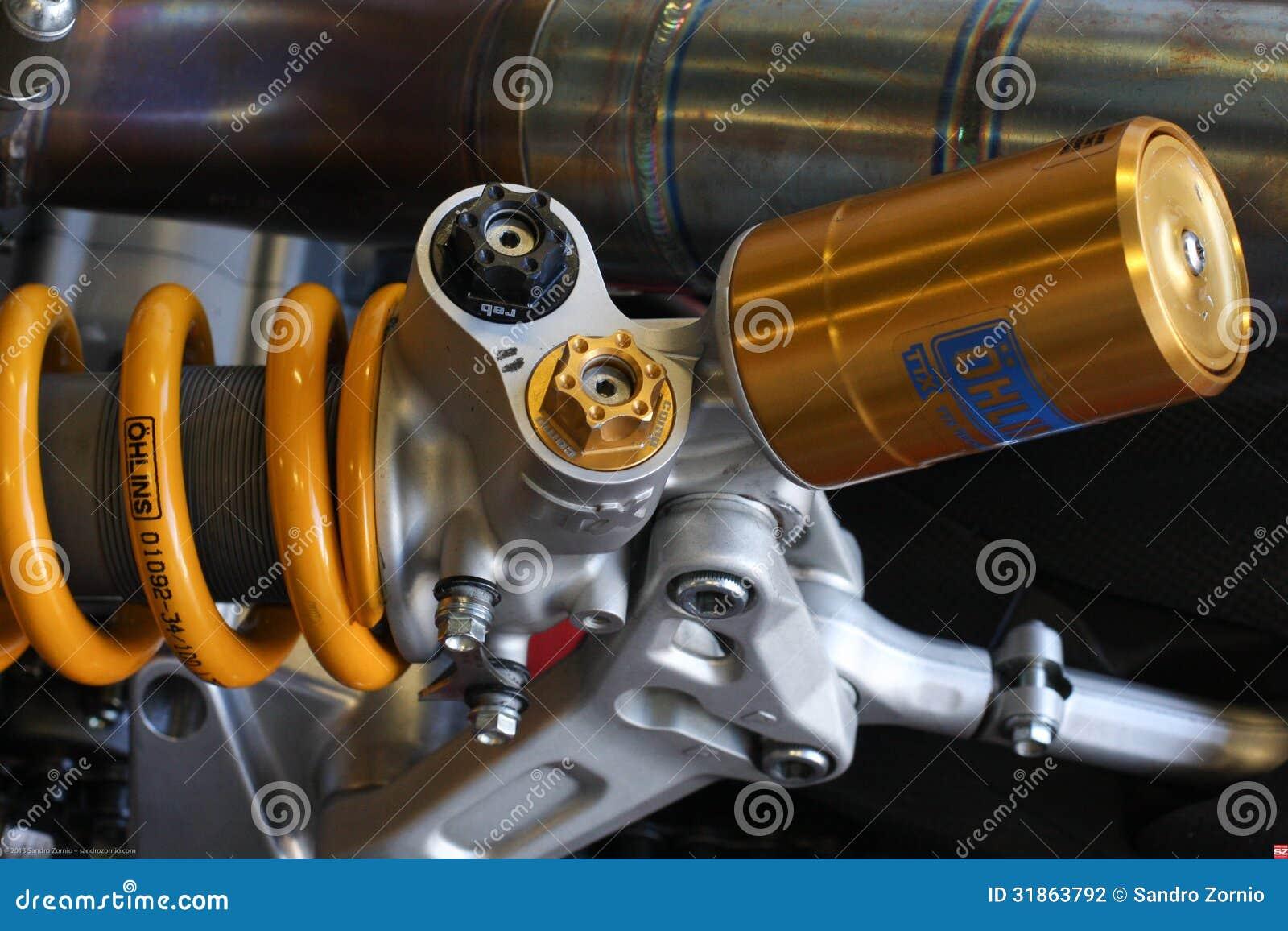 Ducati 1199 Panigale R engine and rear suspensionTeam Ducati Alstare Superbike WSBK