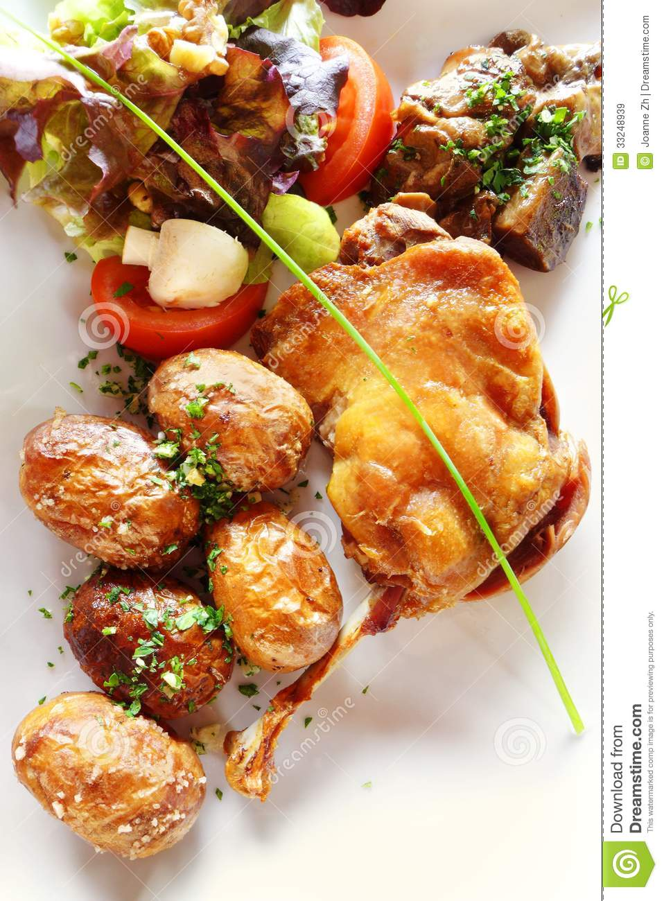 Duck confit french cuisine royalty free stock images for A french cuisine