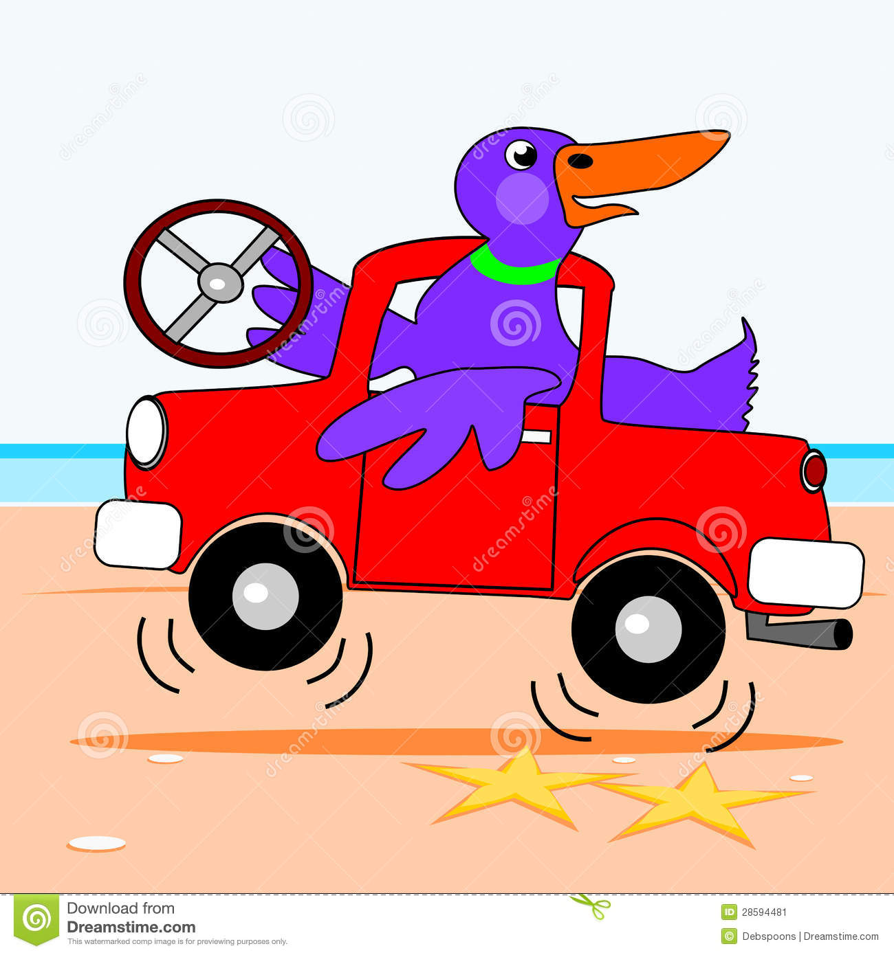 Duck Driving A Truck Stock Image - Image: 28594481