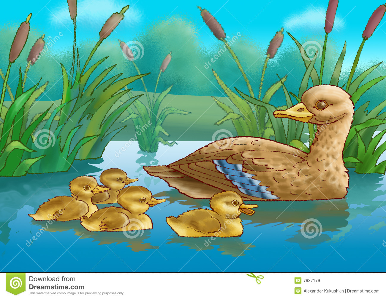 Duck And Duckling Royalty Free Stock Images - Image: 7937179