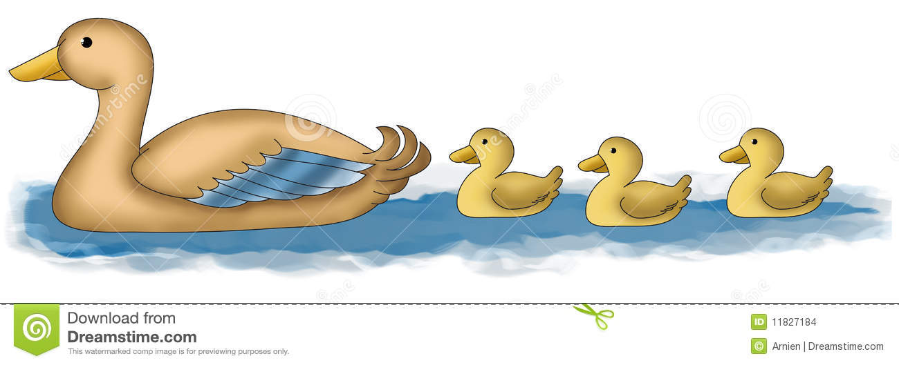 Go Back > Gallery For > Mother Duck And Ducklings Clipart