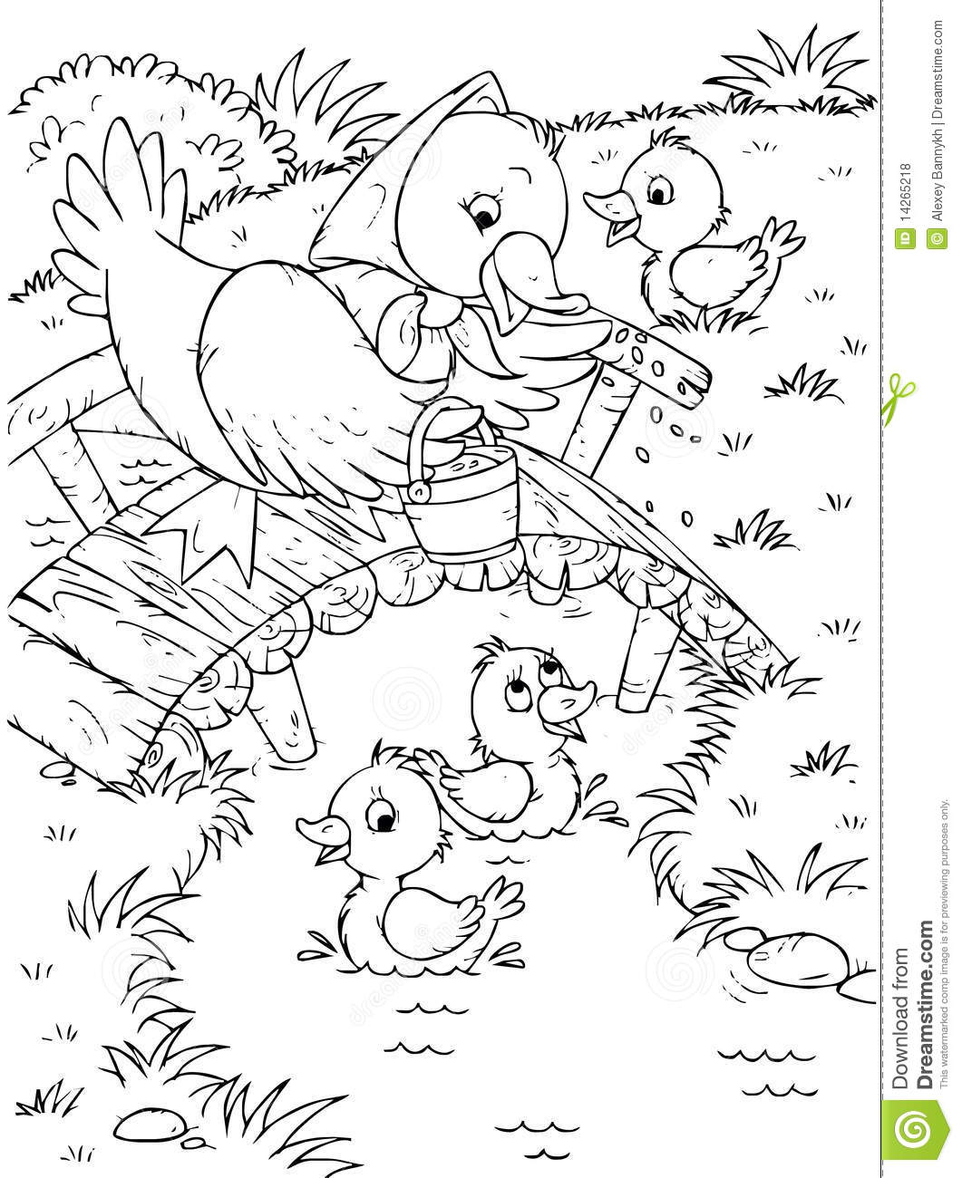 Duck And Ducklings Royalty Free Stock Photos - Image: 14265218